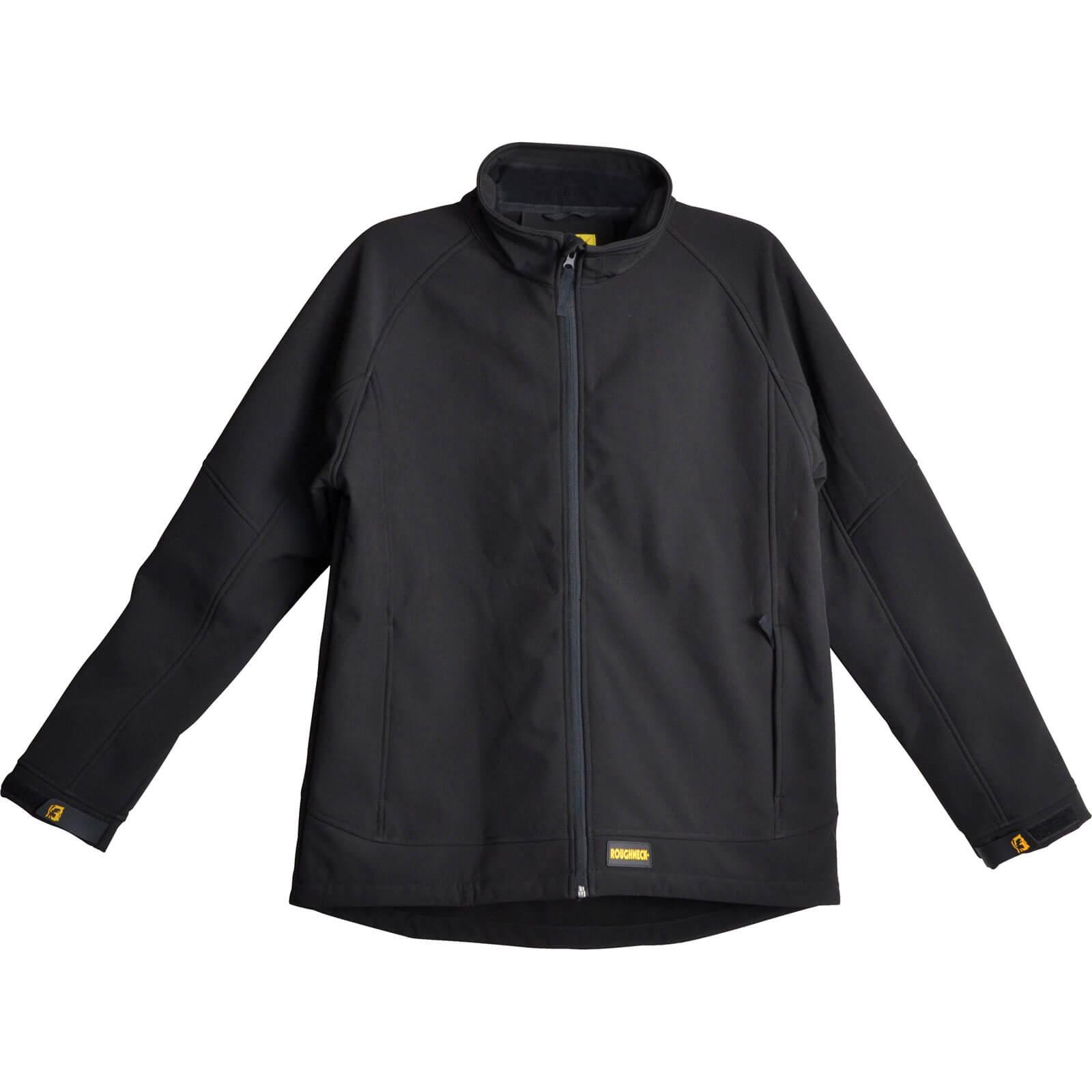 Roughneck Mens Soft Shell Jacket Black 2XL
