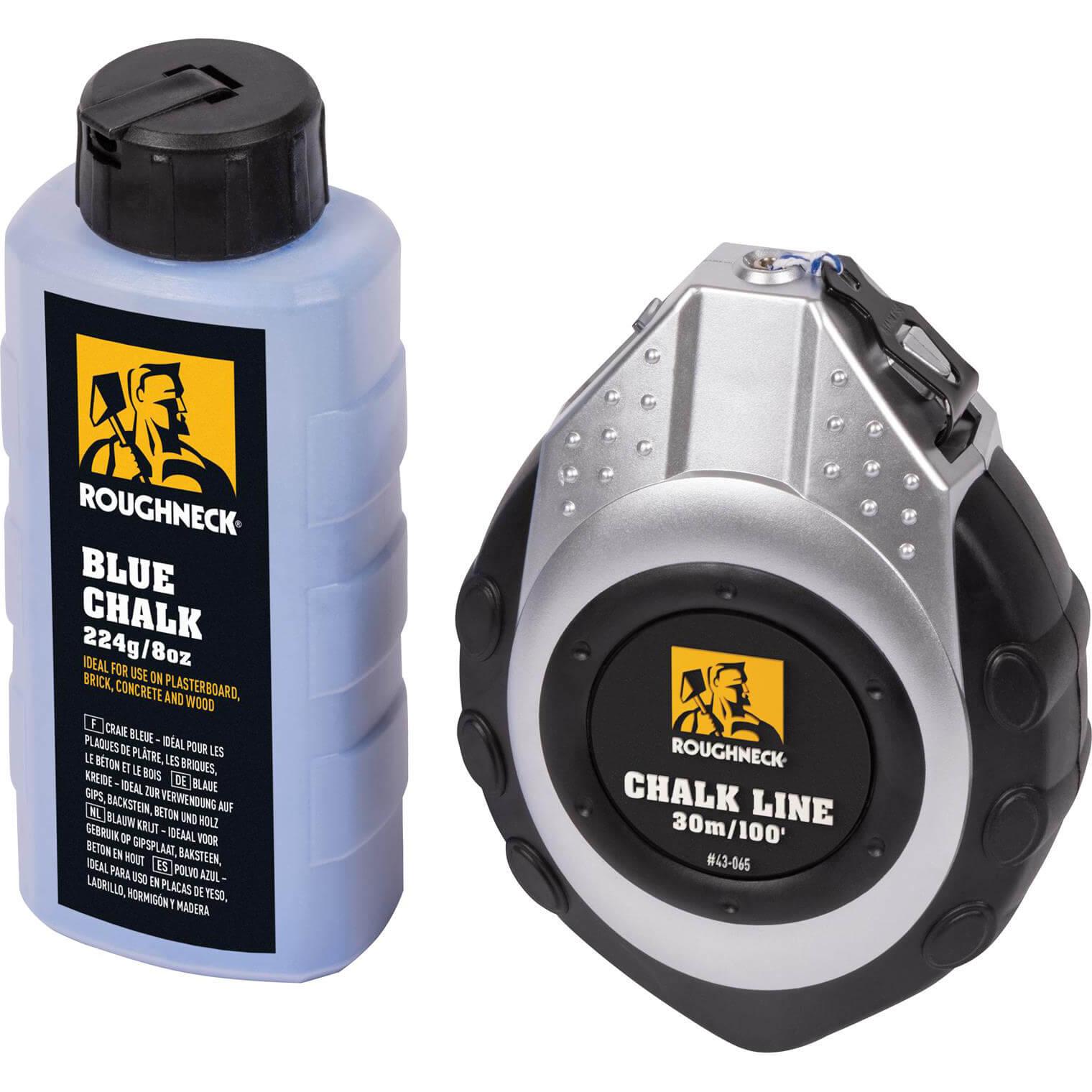 43-065 30m Chalk Line /& Blue Chalk Roughneck