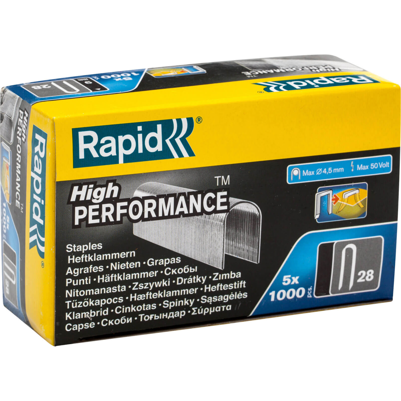 Image of Rapid 28 Galvanised Staples 10mm Pack of 5000