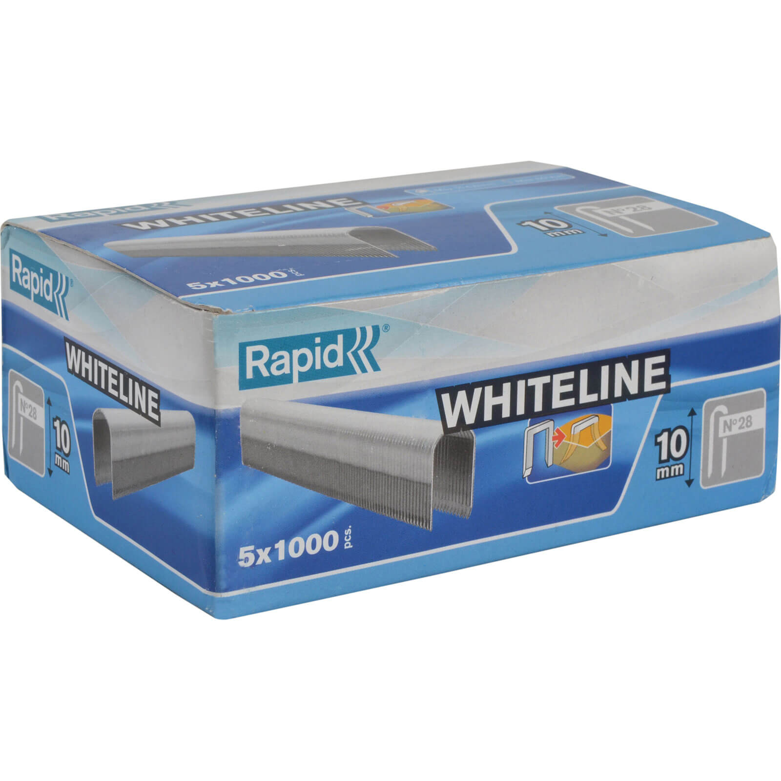 Image of Rapid 28 White Staples 10mm Pack of 5000