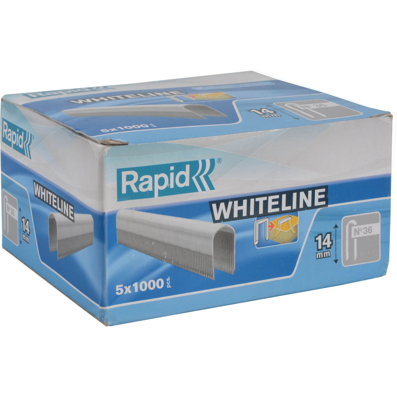 Image of Rapid 28 White Staples 14mm Pack of 5000