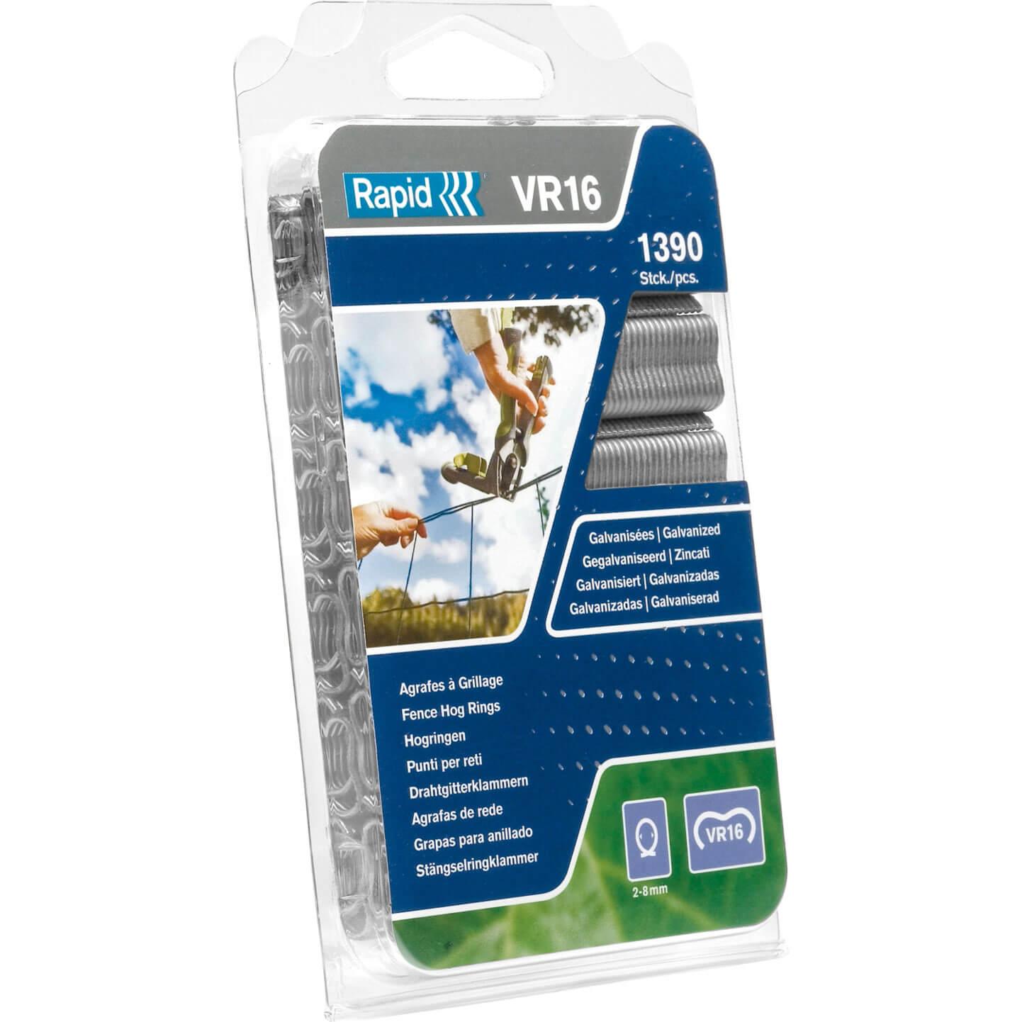 Image of Rapid VR16 Fence Hog Rings Galvanised Pack of 1390