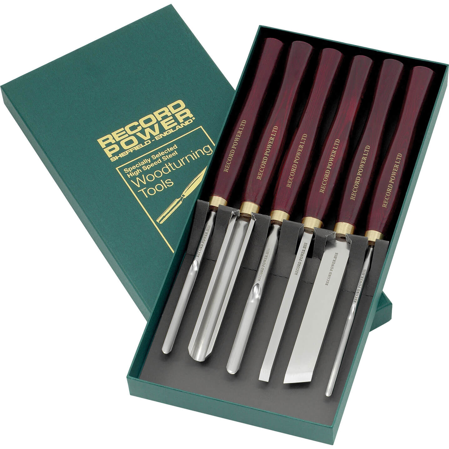 Image of Record Power 6 Piece HSS Wood Turning Tool Set