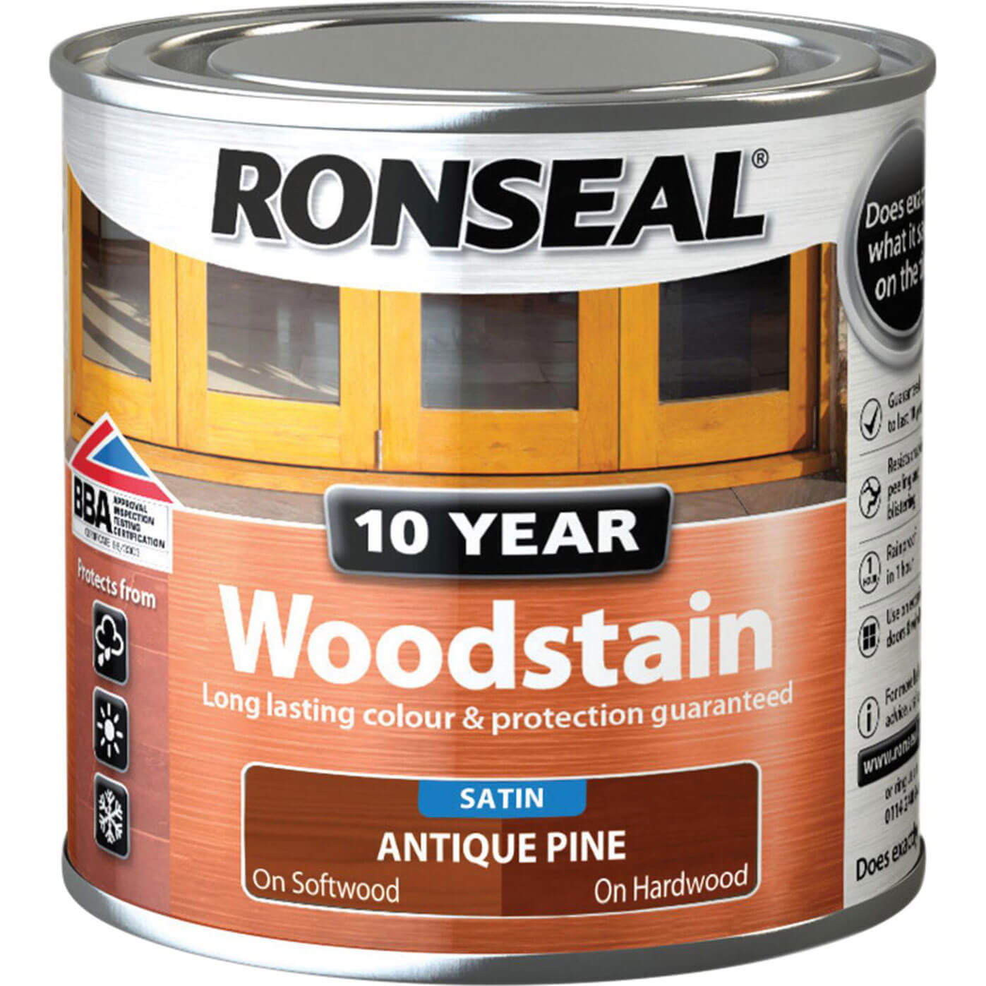 Image of Ronseal 10 Year Wood Stain Antique Pine 250ml