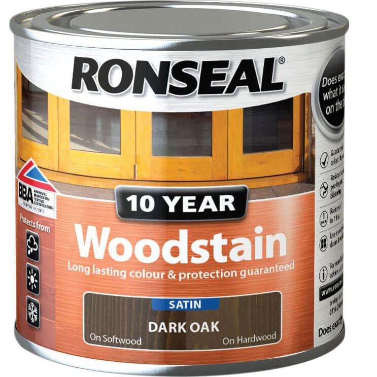Image of Ronseal 10 Year Wood Stain Dark Oak 250ml