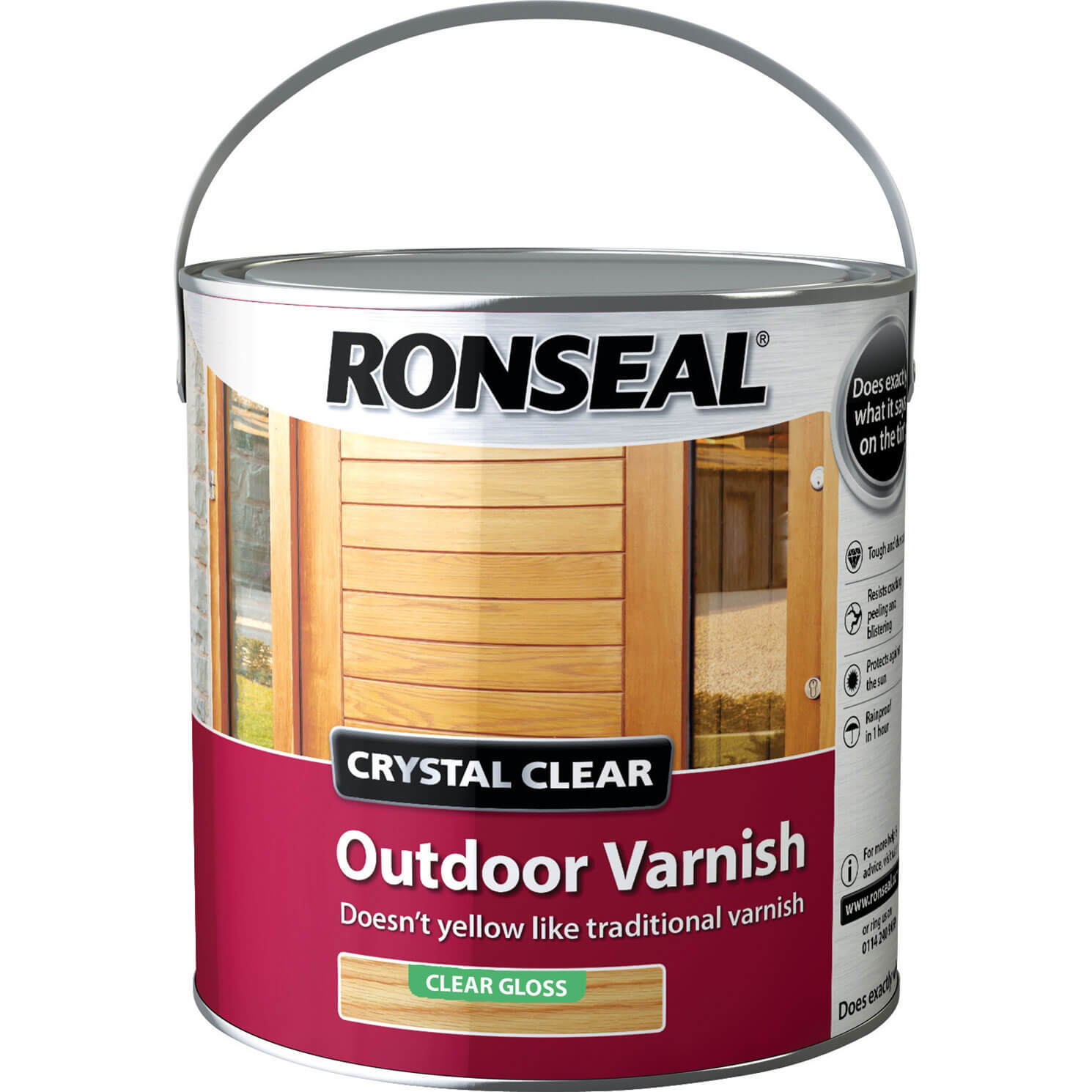 Image of Ronseal Crystal Clear Outdoor Varnish Clear 750ml