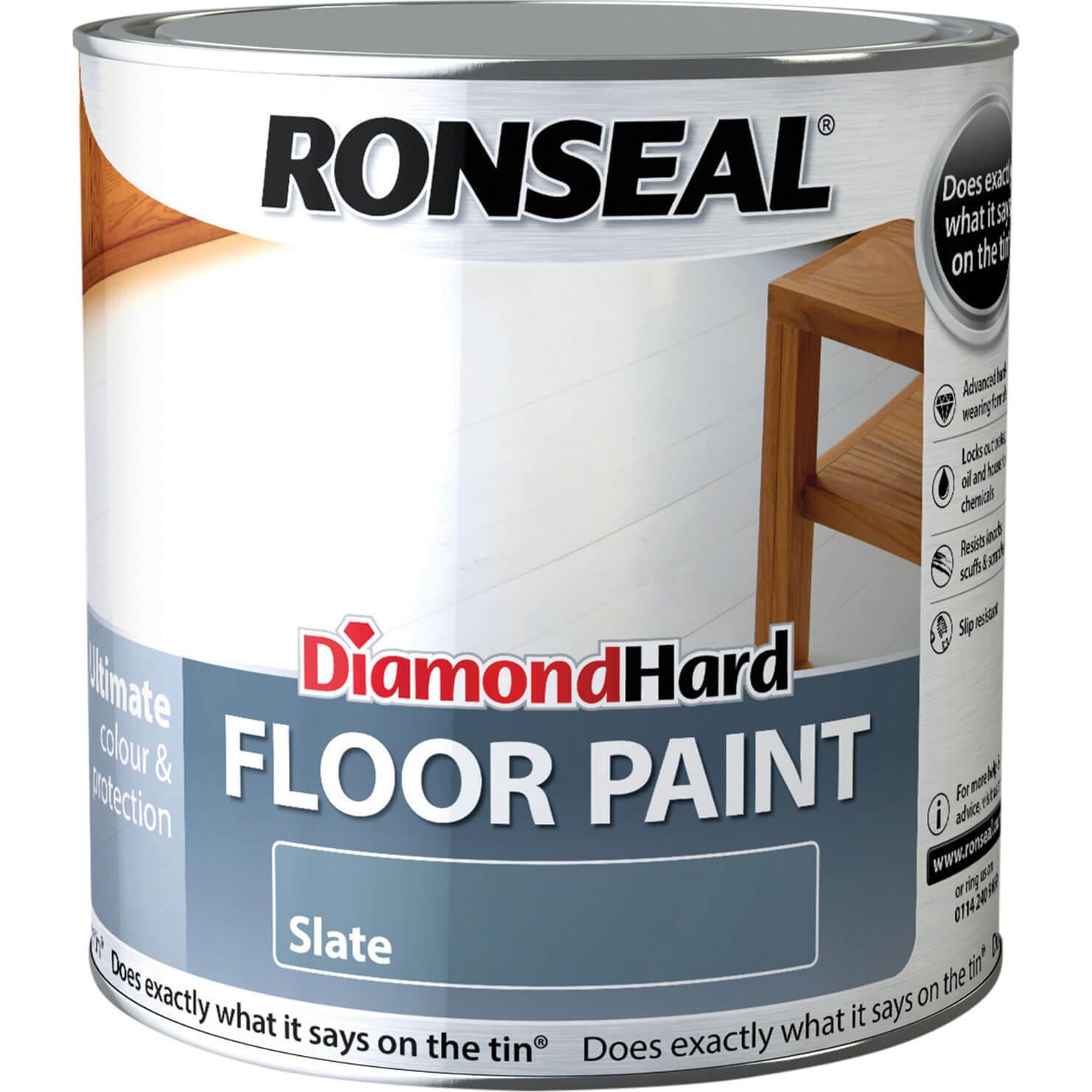 Image of Ronseal Diamond Hard Floor Paint Slate 2.5l