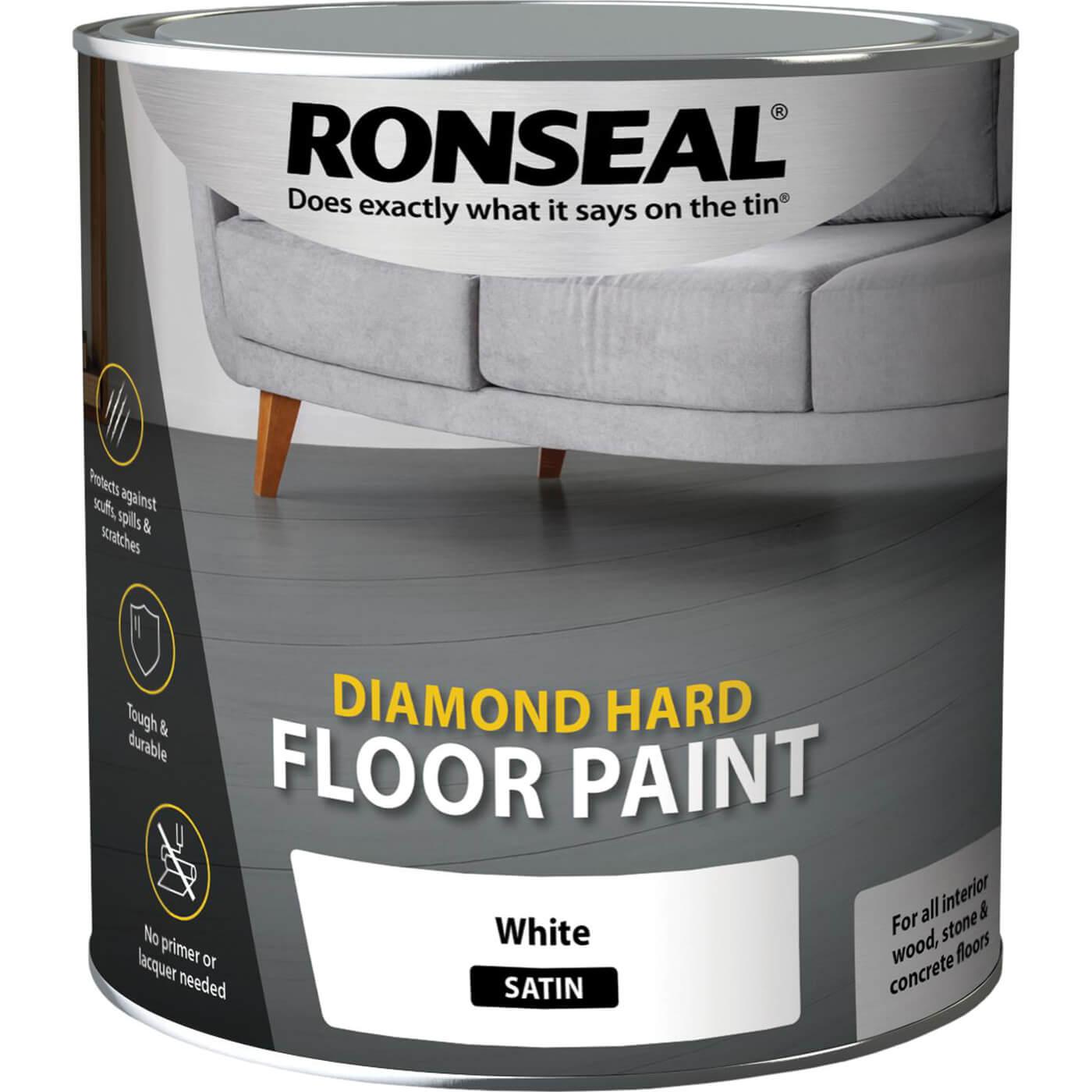 Image of Ronseal Diamond Hard Floor Paint Pebble Stone 2.5l