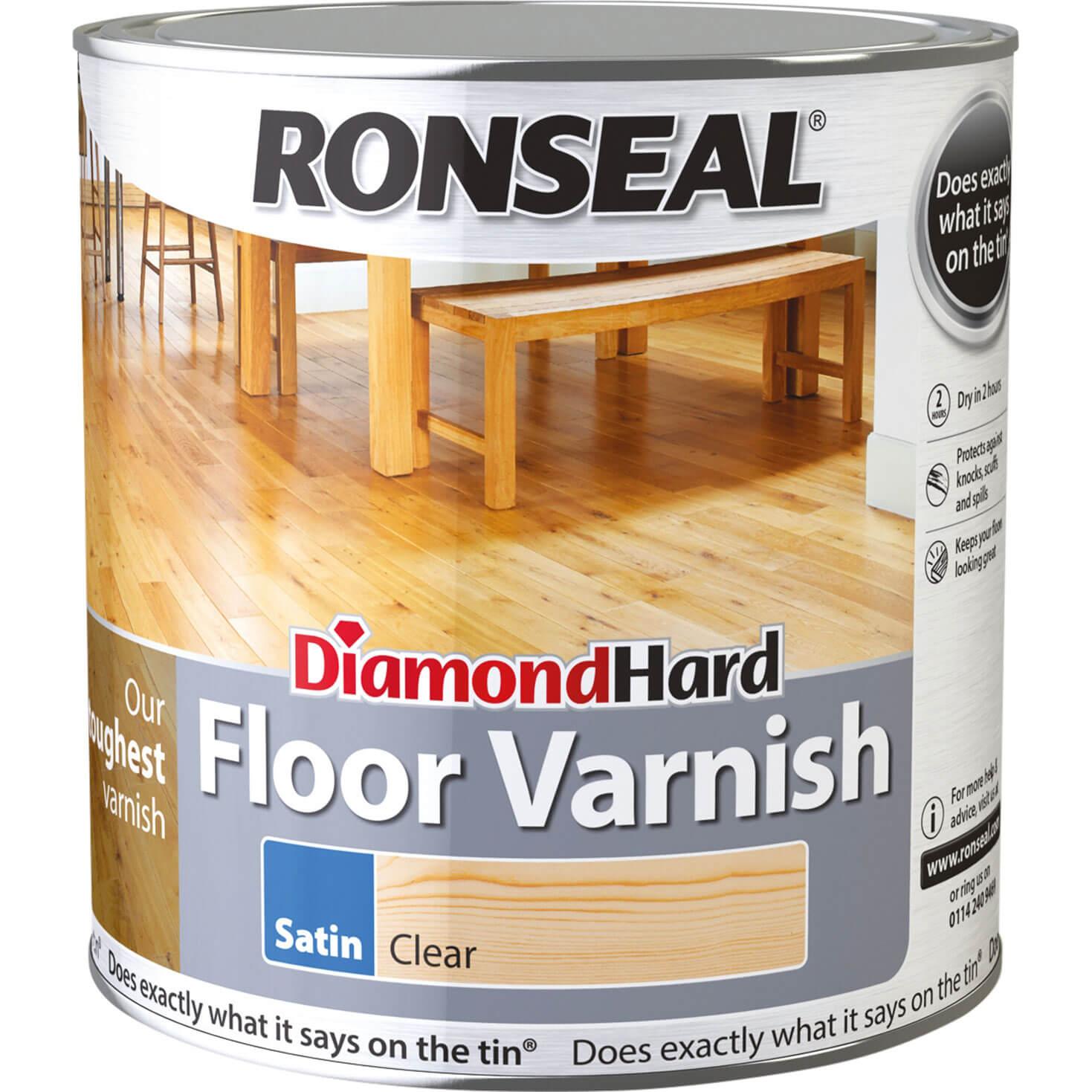 Image of Ronseal Diamond Hard Floor Varnish 2.5l Gloss