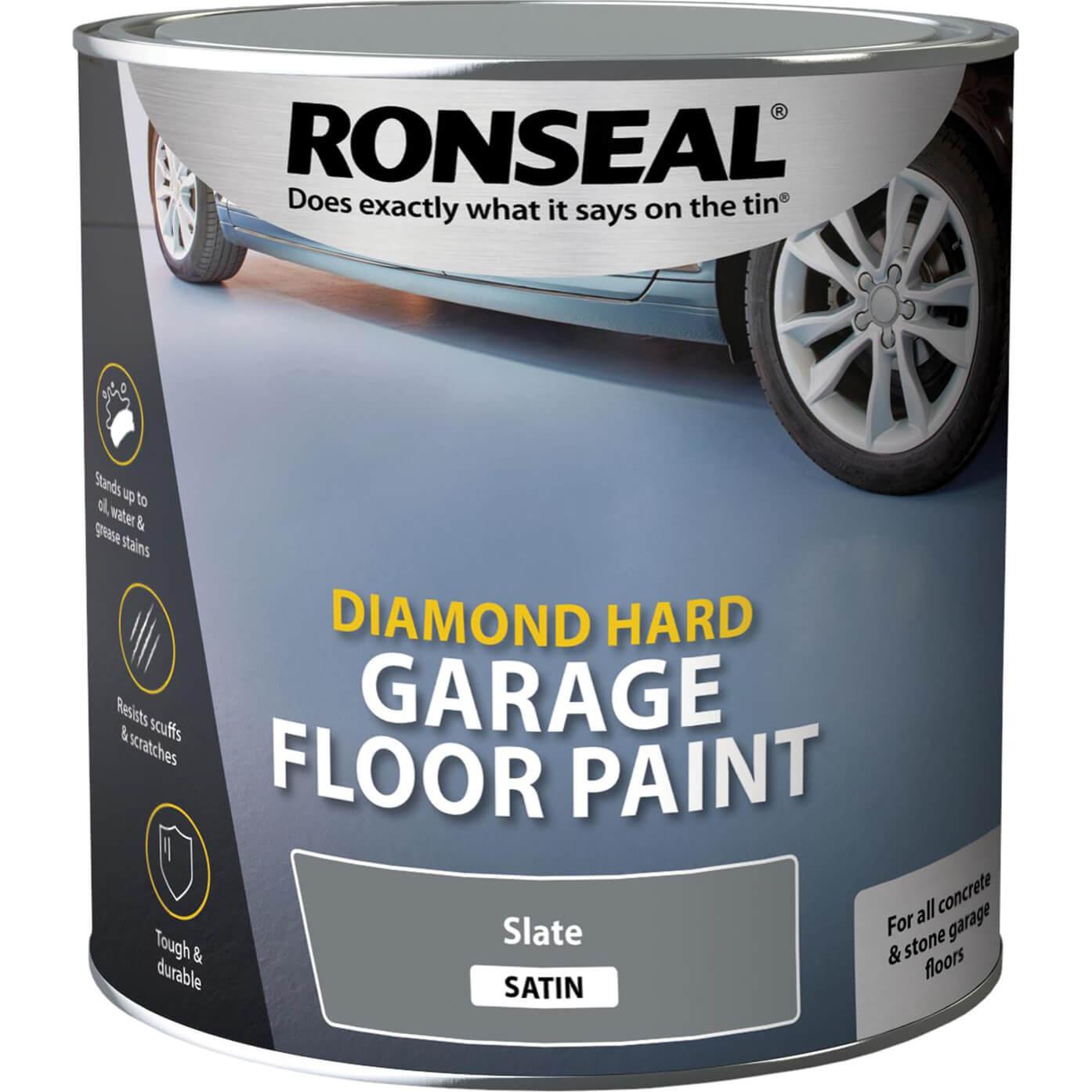 Image of Ronseal Diamond Hard Garage Floor Paint Slate 2.5l