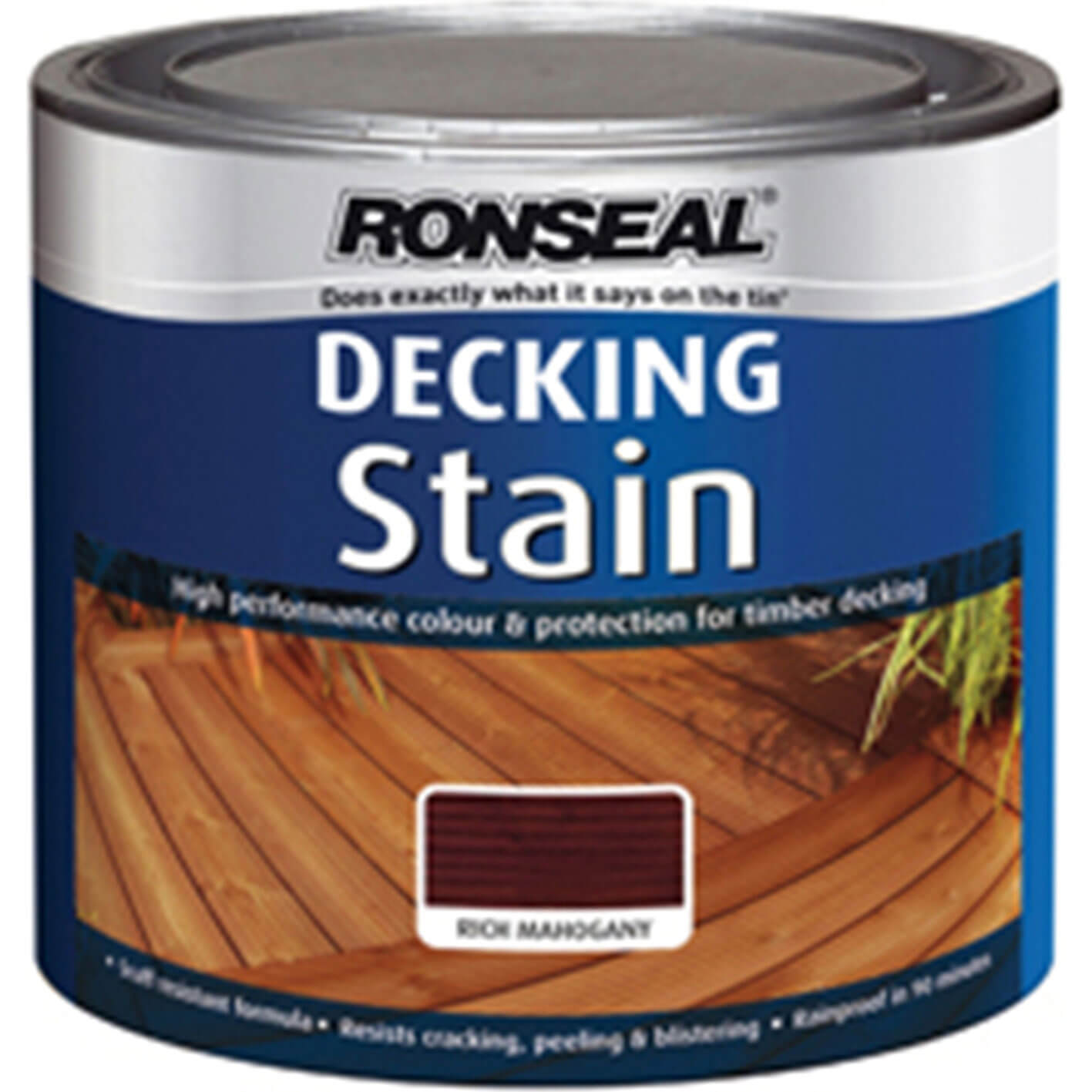 Ronseal Decking Stain Rich Mahogany 2 5l