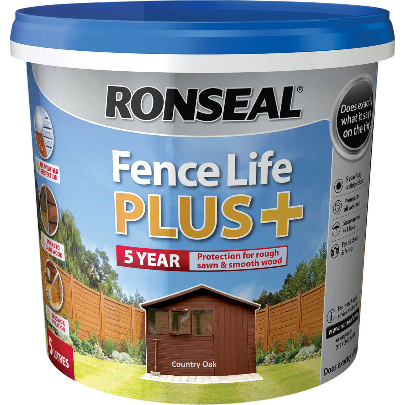 Click to view product details and reviews for Ronseal Fence Life Plus Country Oak 5l.