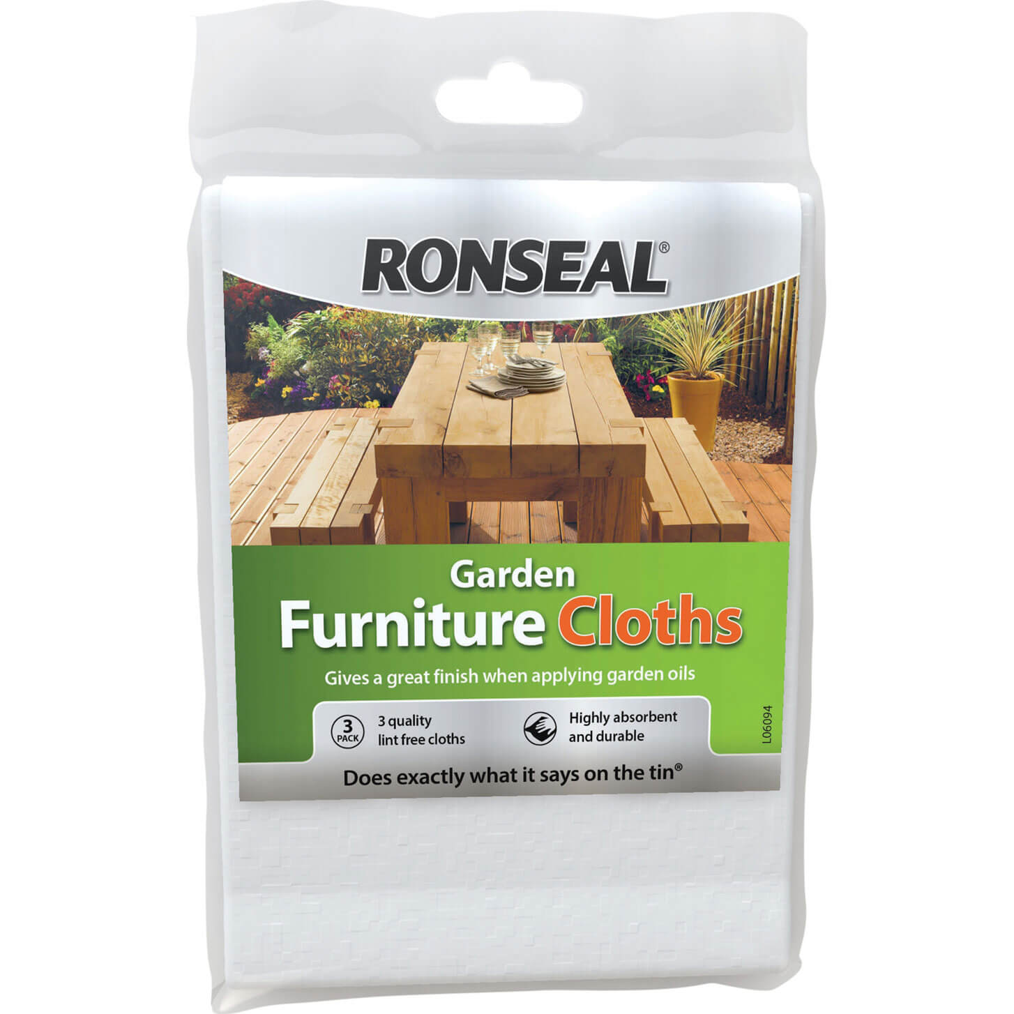 Image of Ronseal Garden Furniture Cloth Pack of 3