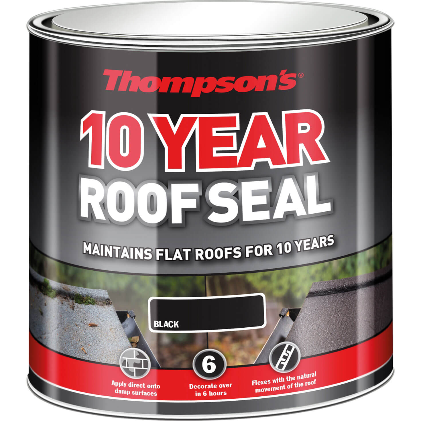 Ronseal Thompsons High Performance Roof Seal 1l Black