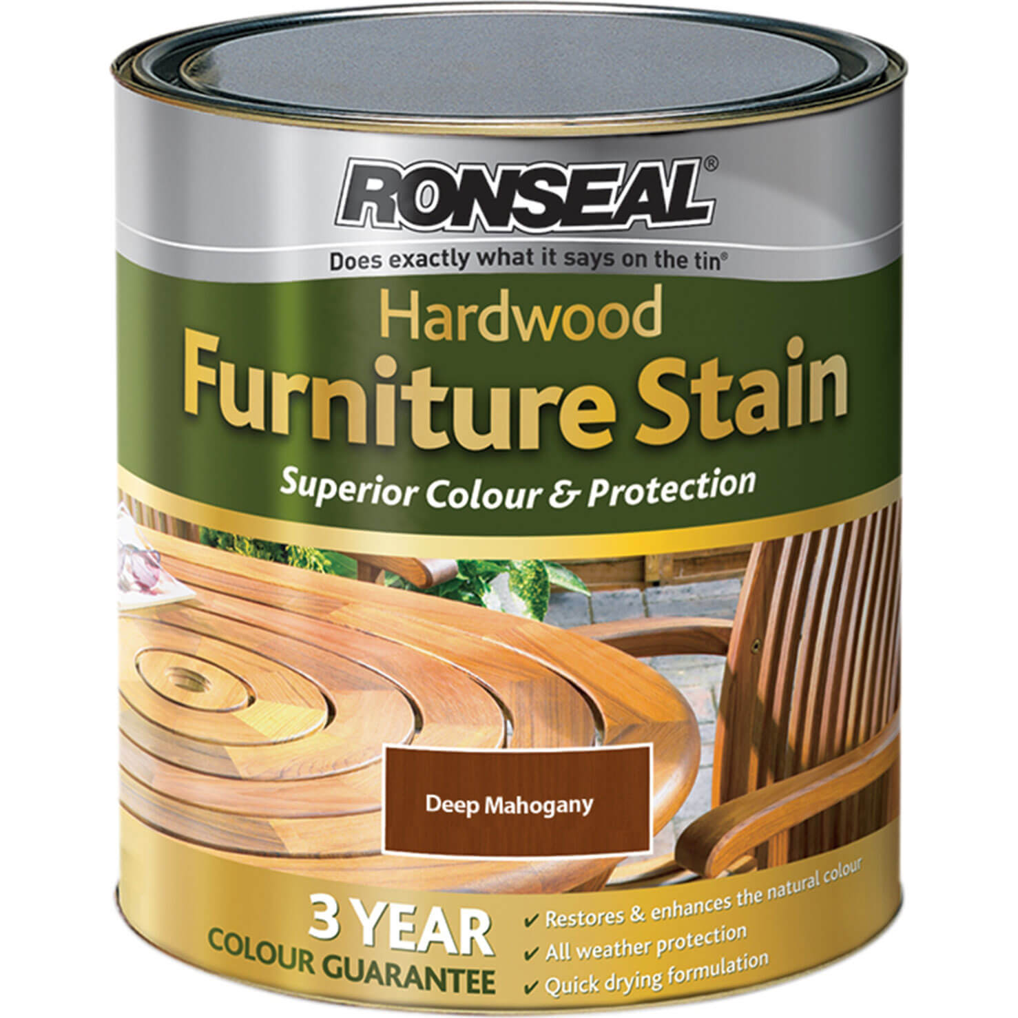 Ronseal Hardwood Furniture Stain Deep Mahogany 750ml