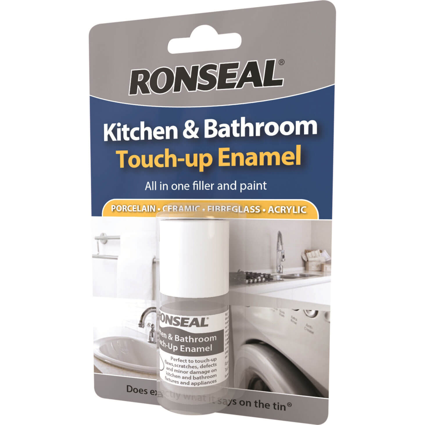 Ronseal kitchen bathroom touch up enamel paint for Bath enamel paint