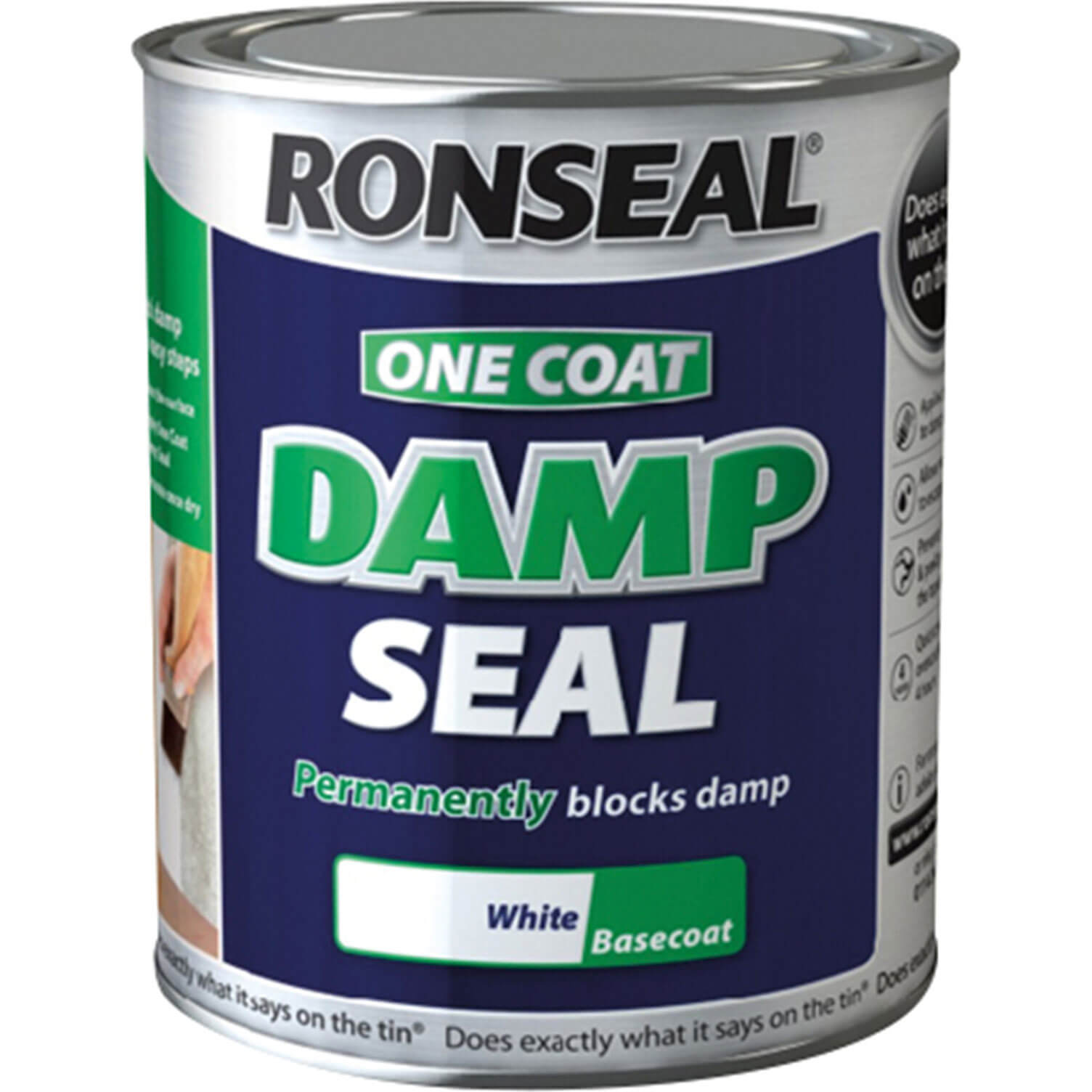 Image of Ronseal One Coat Damp Seal White 250ml