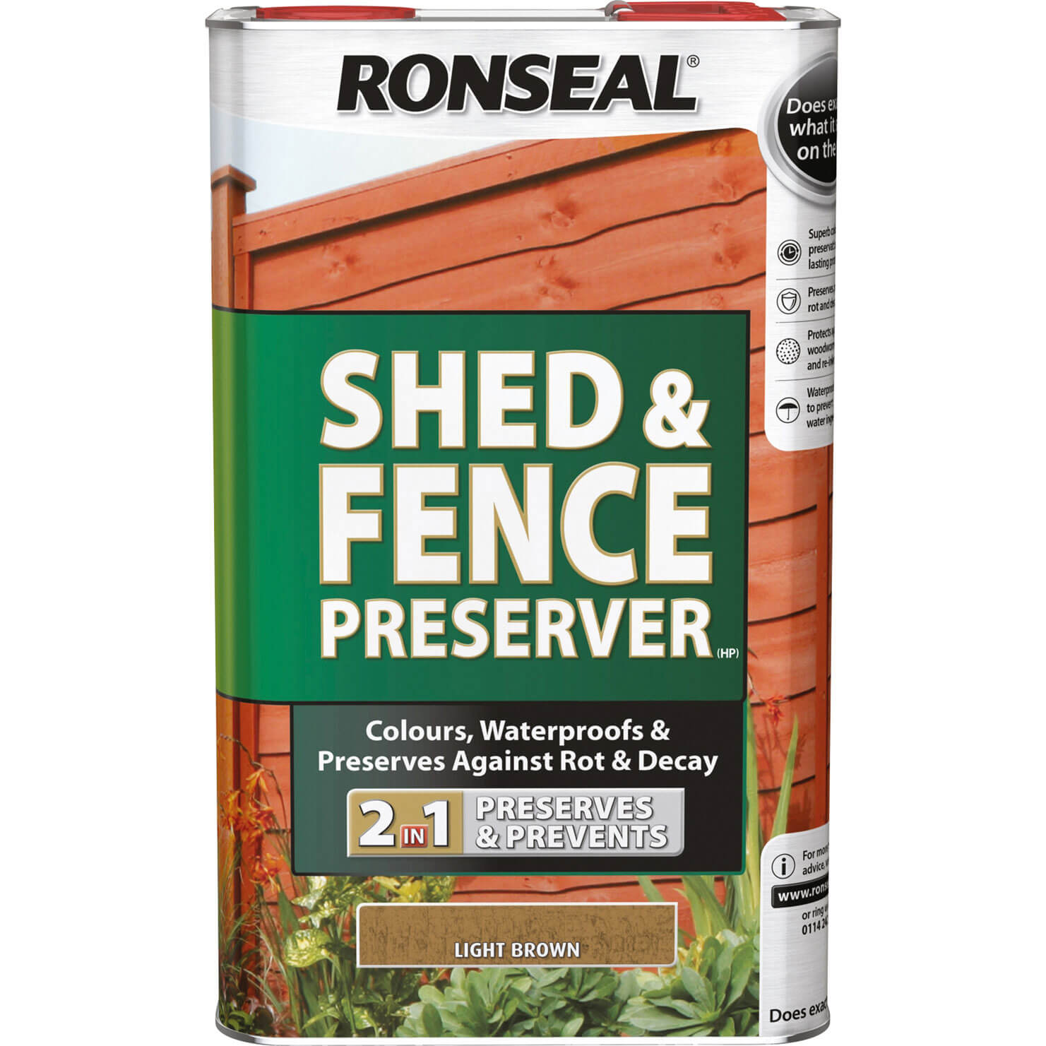 Click to view product details and reviews for Ronseal Shed Fence Preserver Light Brown 5l.