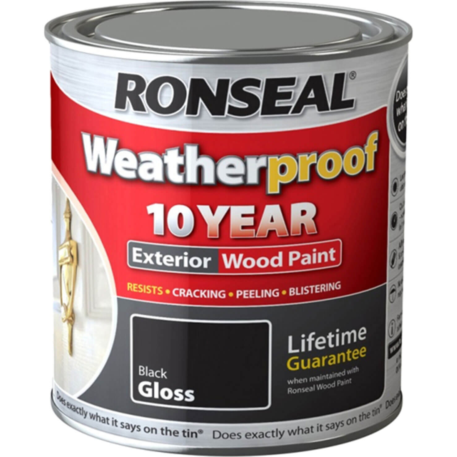 Ronseal 10 Year Weatherproof Wood Paint Muddy Brown 750ml