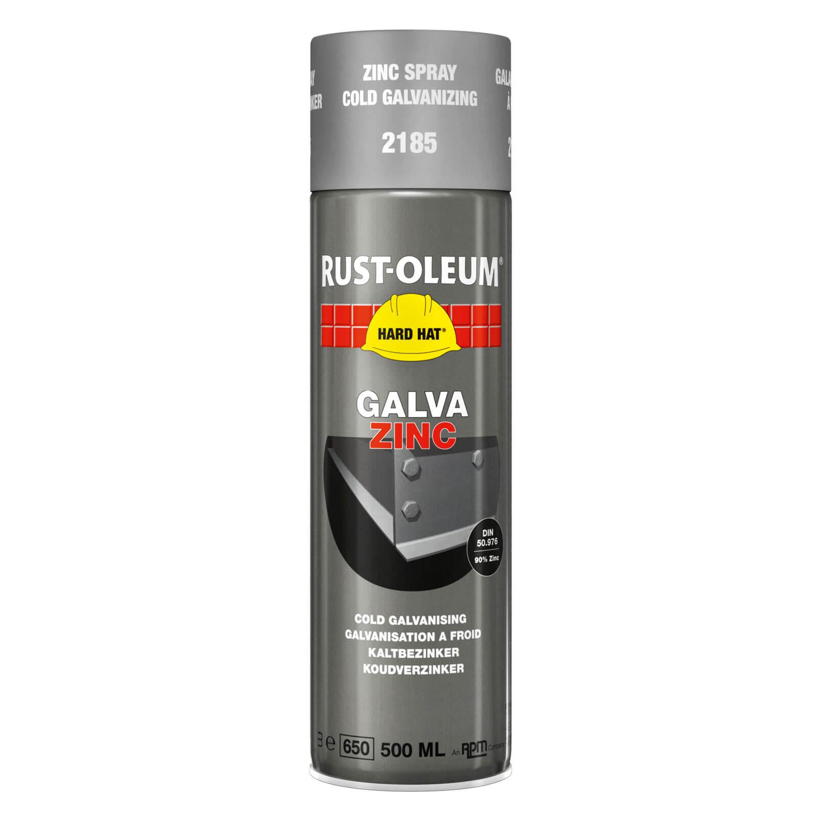 Image of Rust Oleum Hard Hat Galvanising Zinc Spray Paint Galv Express 500ml