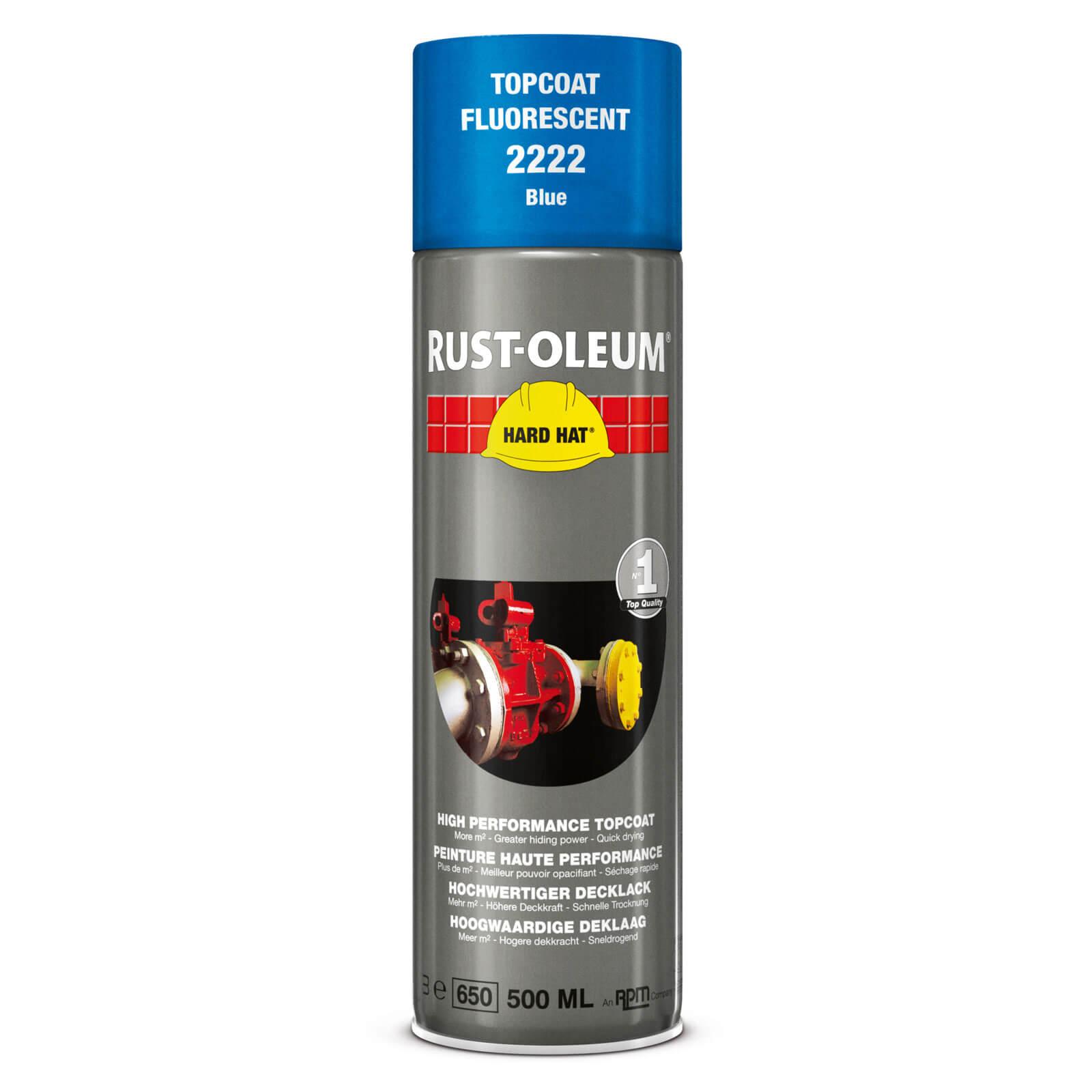 Rust Oleum Hard Hat Fluorescent Spray Paint Blue 500ml