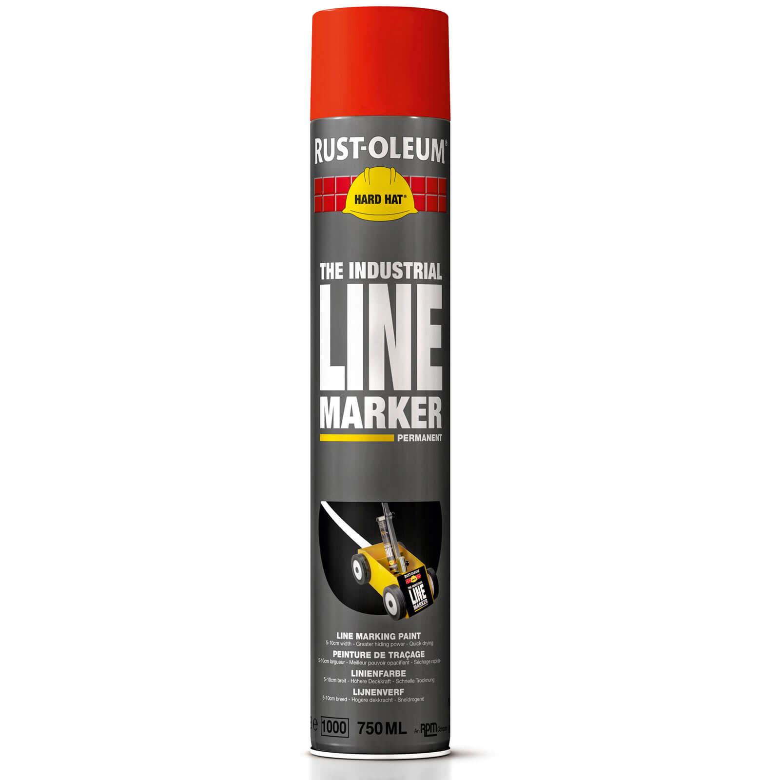 Rust Oleum Hard Hat Line Marking Spray Paint Red 750ml