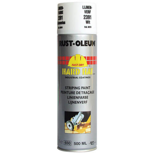 Rust Oleum Hard Hat Line Marking Spray Paint White 500ml
