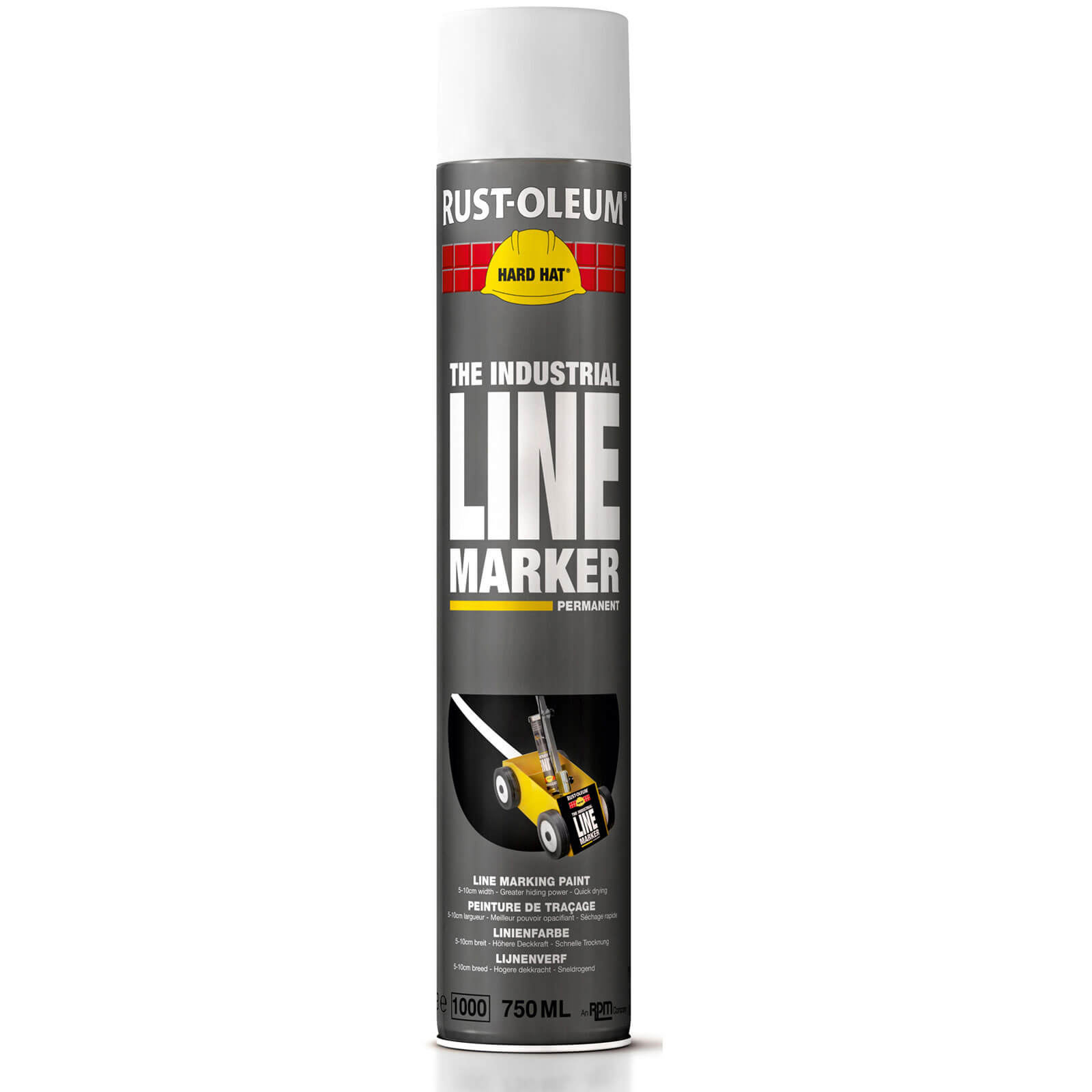 Rust Oleum Hard Hat Line Marking Spray Paint White 750ml