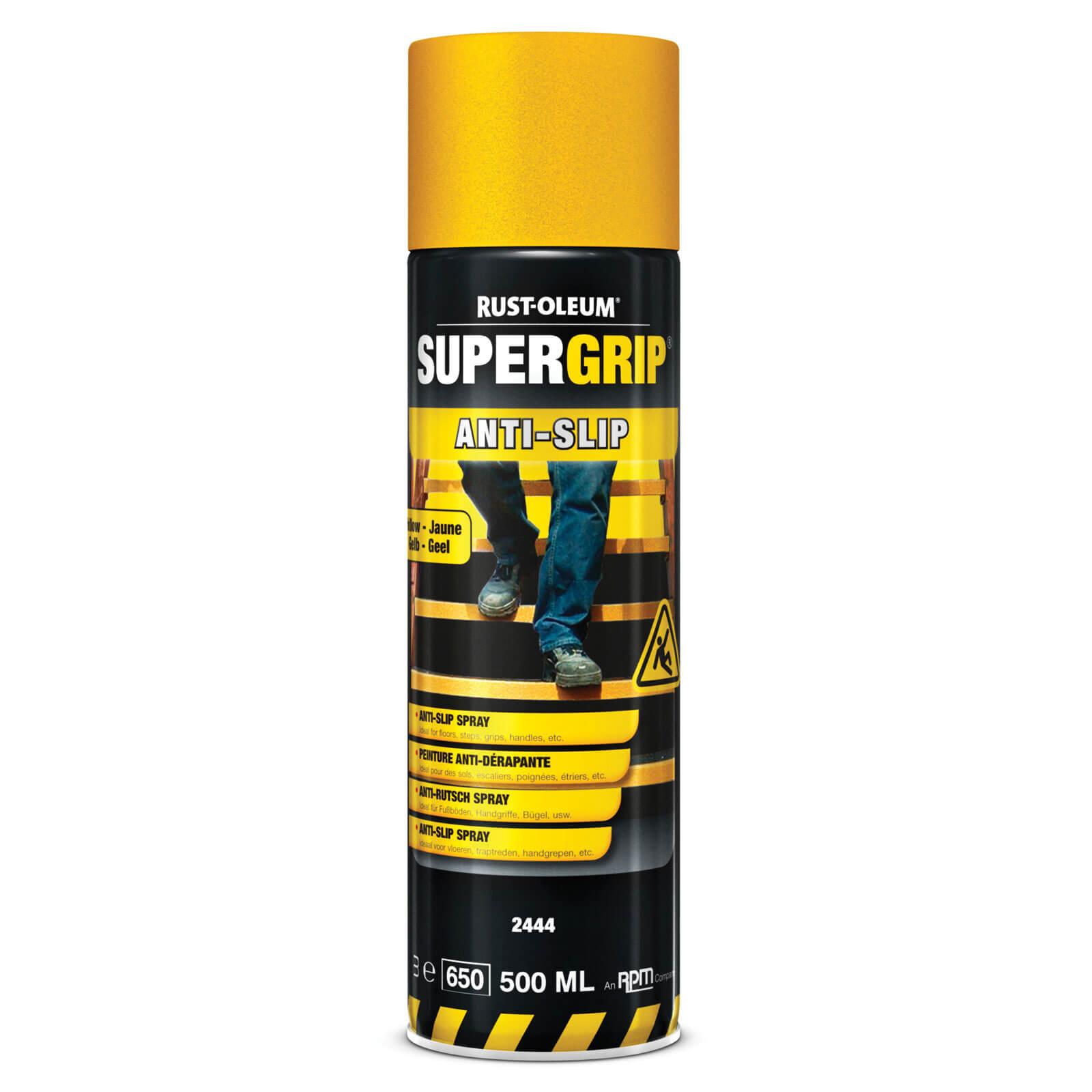 Rust Oleum Hard Hat Anti Slip Aerosol Floor Spray Paint Yellow 500ml
