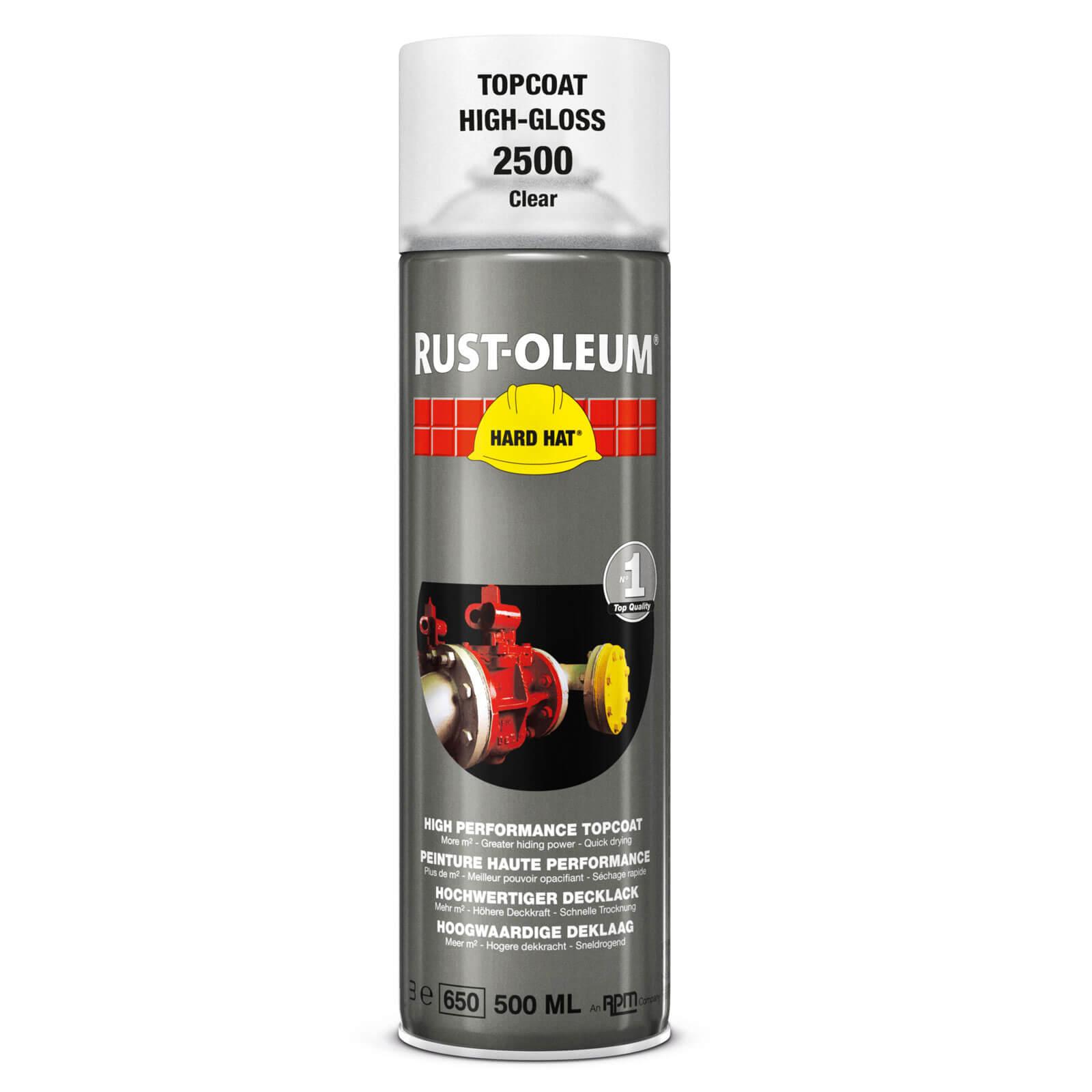 Image of Rust Oleum Hard Hat Transparent Spray Paint Transparent 500ml