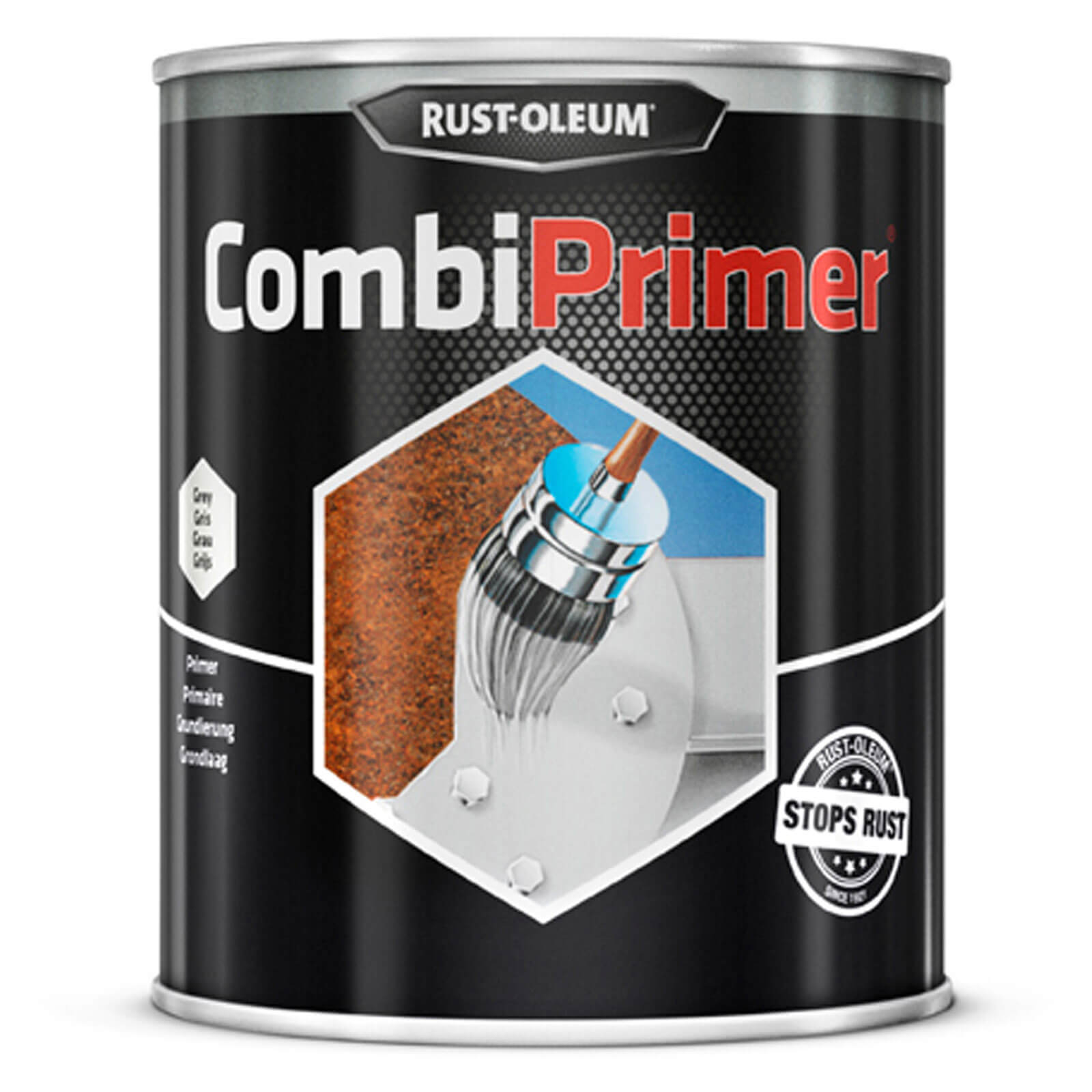 Rust Oleum CombiPrimer Anti Rust Metal Primer Paint Grey 750ml