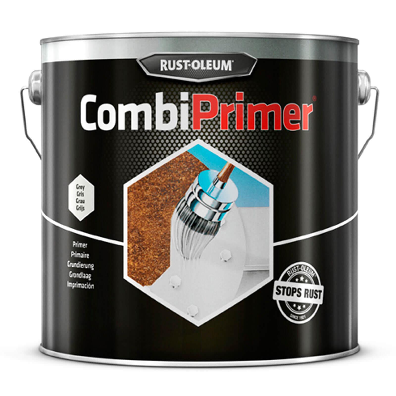Rust Oleum CombiPrimer Anti Rust Metal Primer Paint Grey 2.5l
