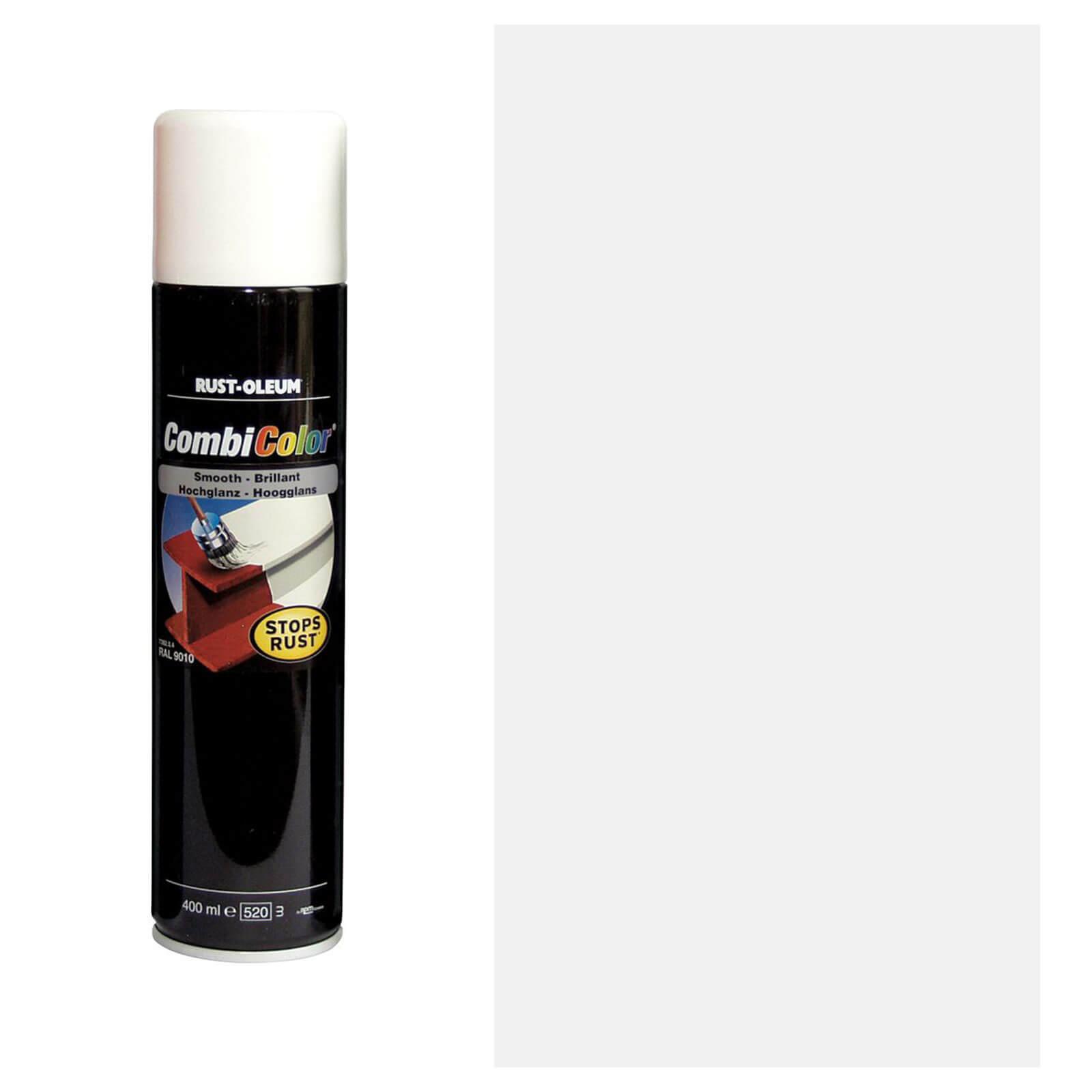 Rust Oleum Satin Spray Paint White 400ml