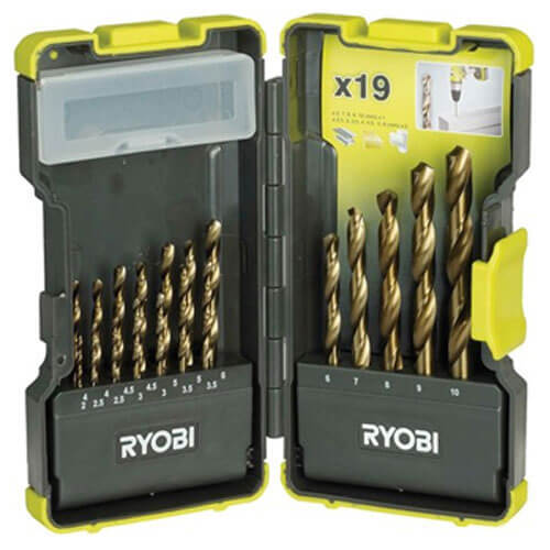 Image of Ryobi 19 Piece HSS Drill Bit Set
