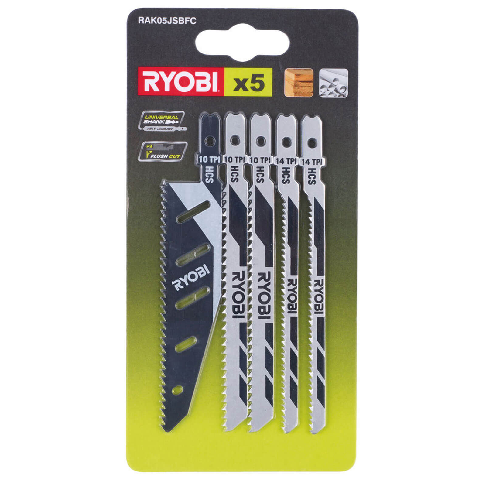 Ryobi 5 Piece Universal Jigsaw Blade Set
