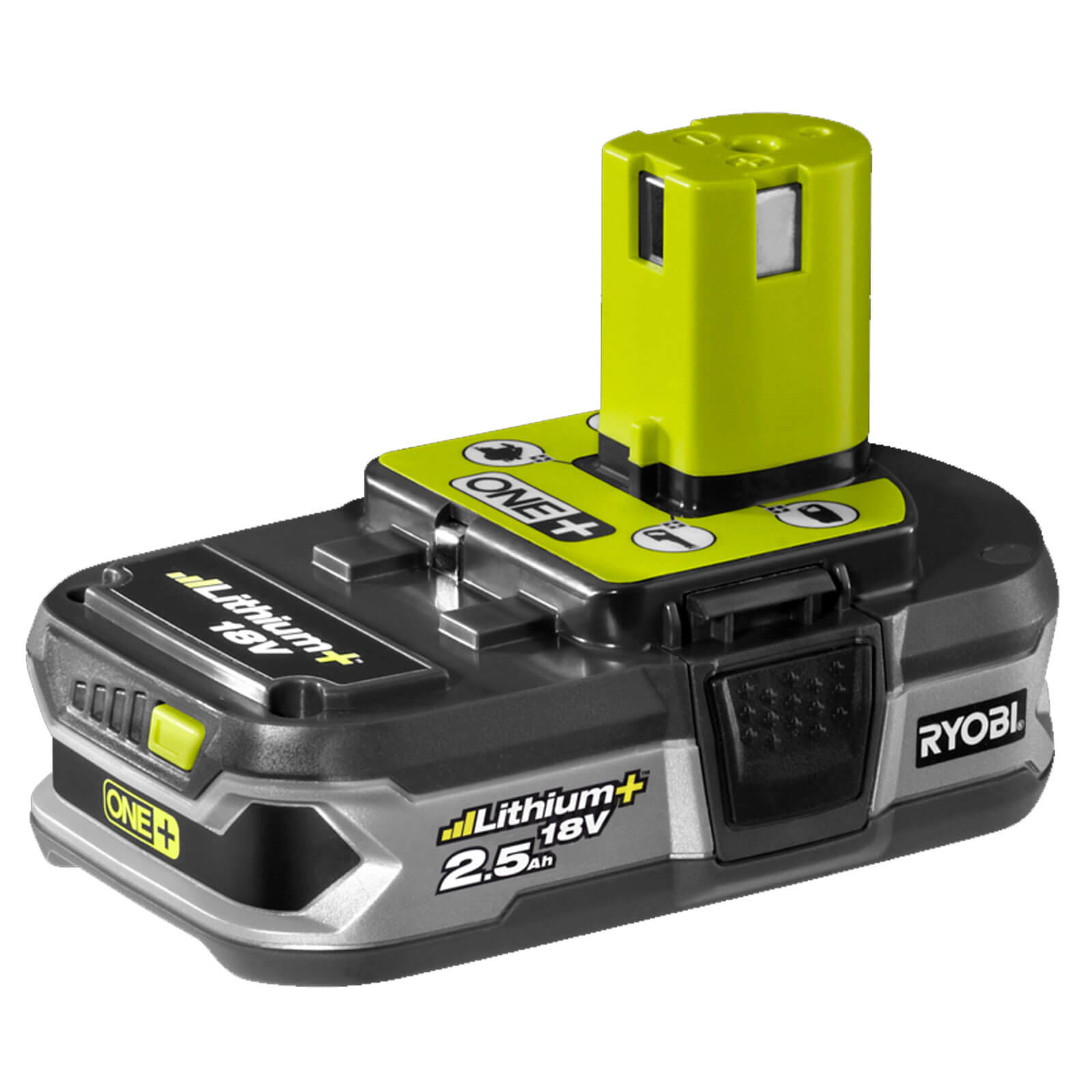 ryobi rb18l25 one 18v cordless li ion battery. Black Bedroom Furniture Sets. Home Design Ideas