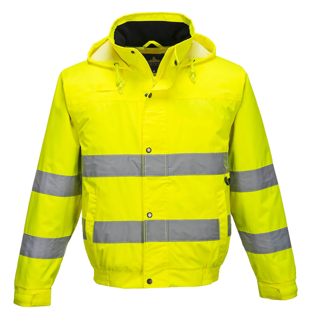 Image of Oxford Weave 150D Class 3 Hi Vis Bomber Jacket Yellow 2XL