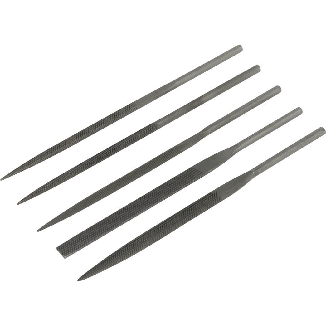 Image of Sealey 5 Piece Needle File Set for SA347 Air Reciprocating Saw
