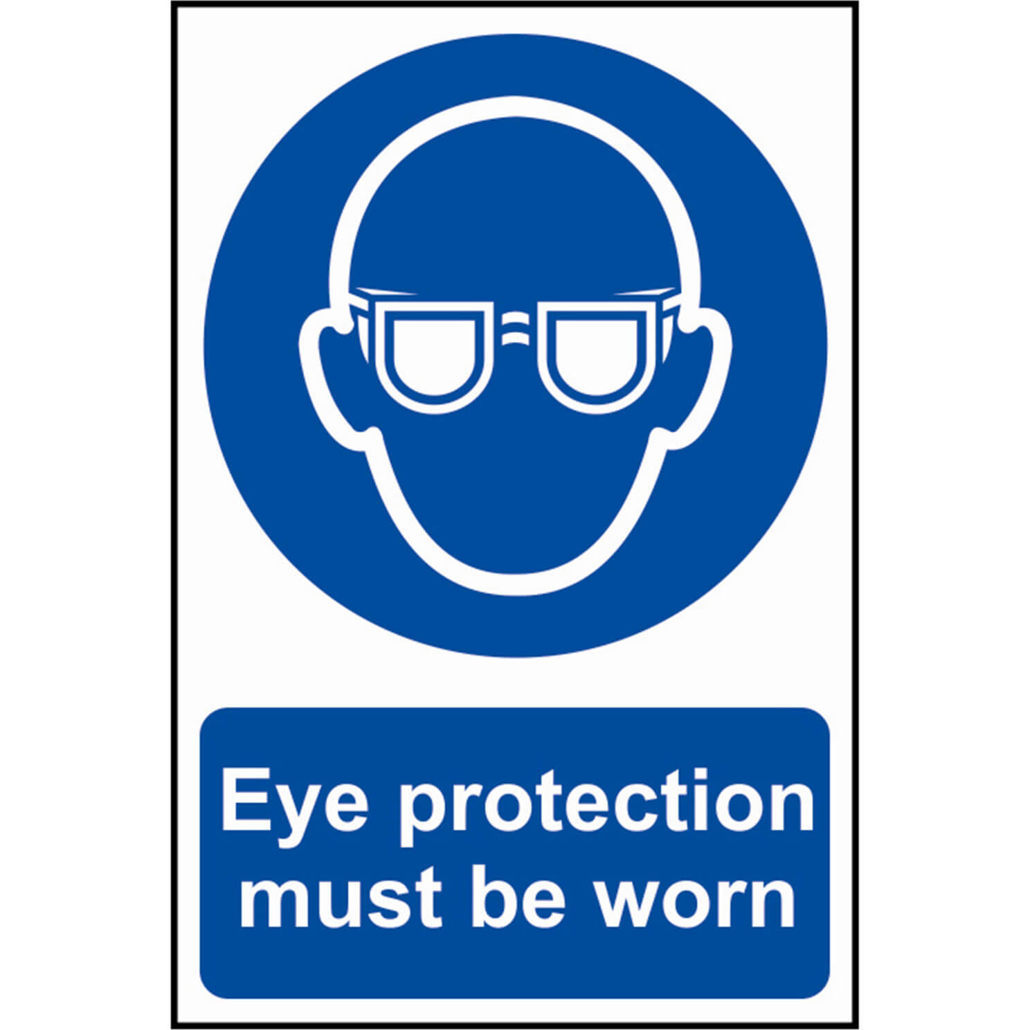 Image of Scan Eye Protection Must Be Worn Sign 200mm 300mm Standard