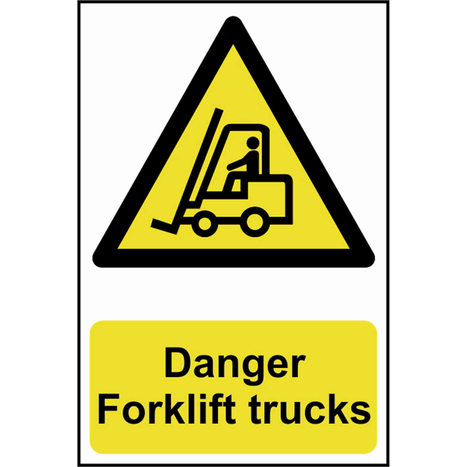 Image of Scan Danger Forklift Trucks Sign 200mm 300mm Standard