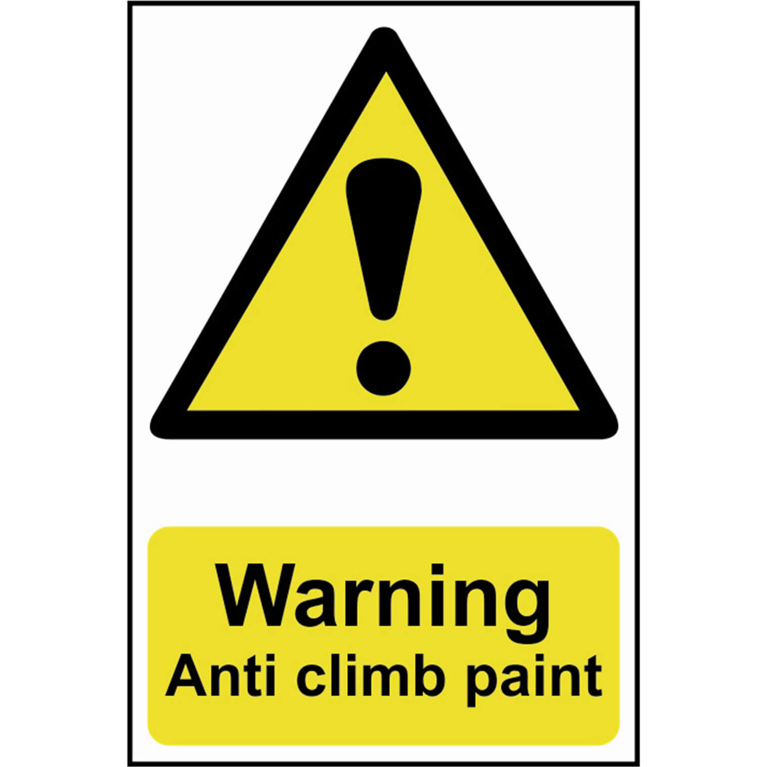 Image of Scan Warning Anti Climb Paint Sign 200mm 300mm Standard