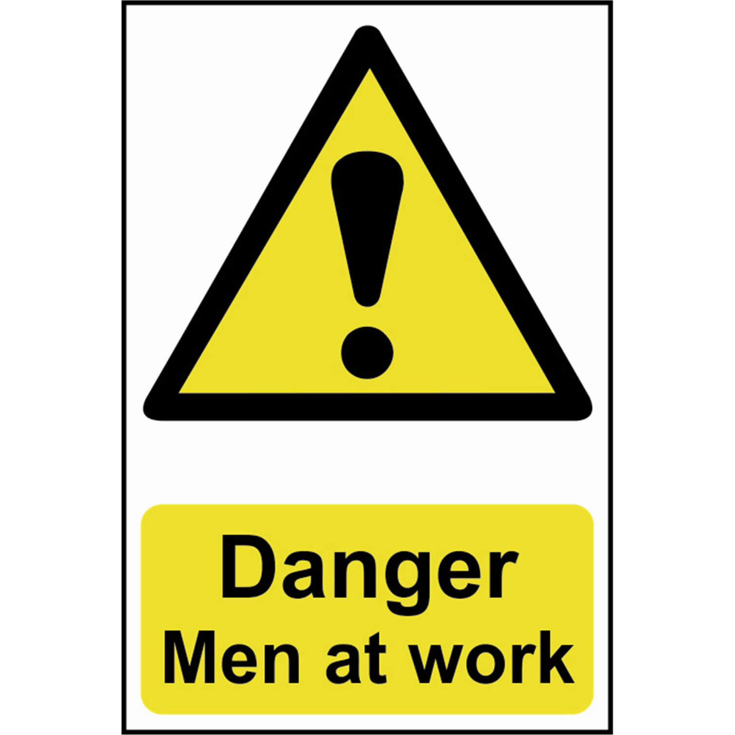Image of Scan Danger Men At Work Sign 200mm 300mm Standard