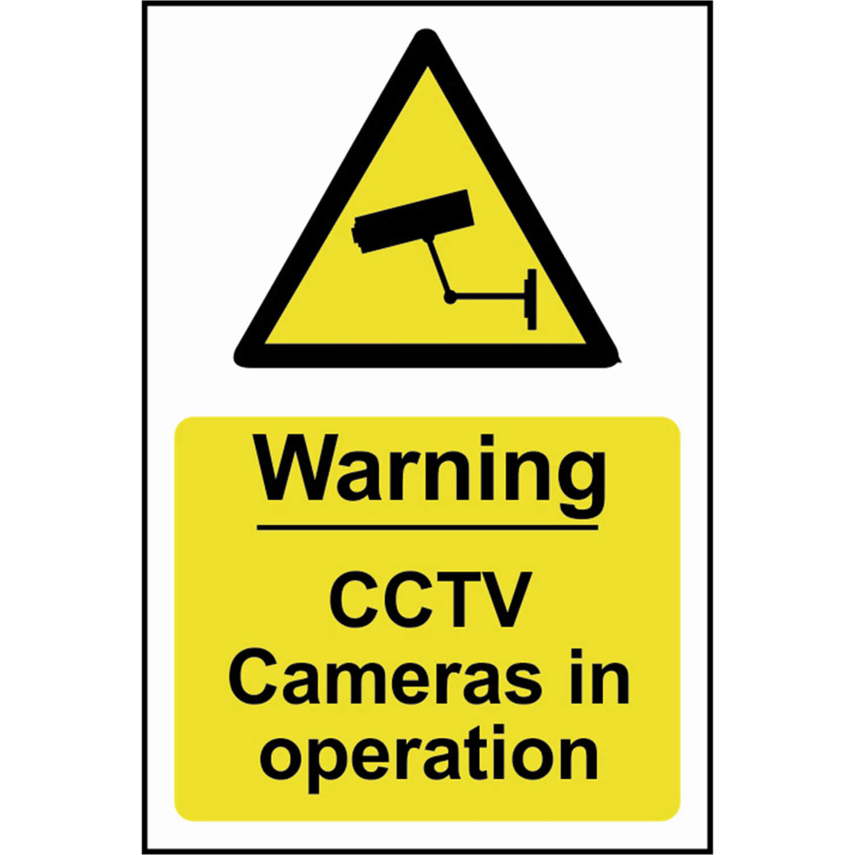Image of Scan Warning CCTV Cameras In Operation Sign 200mm 300mm Standard
