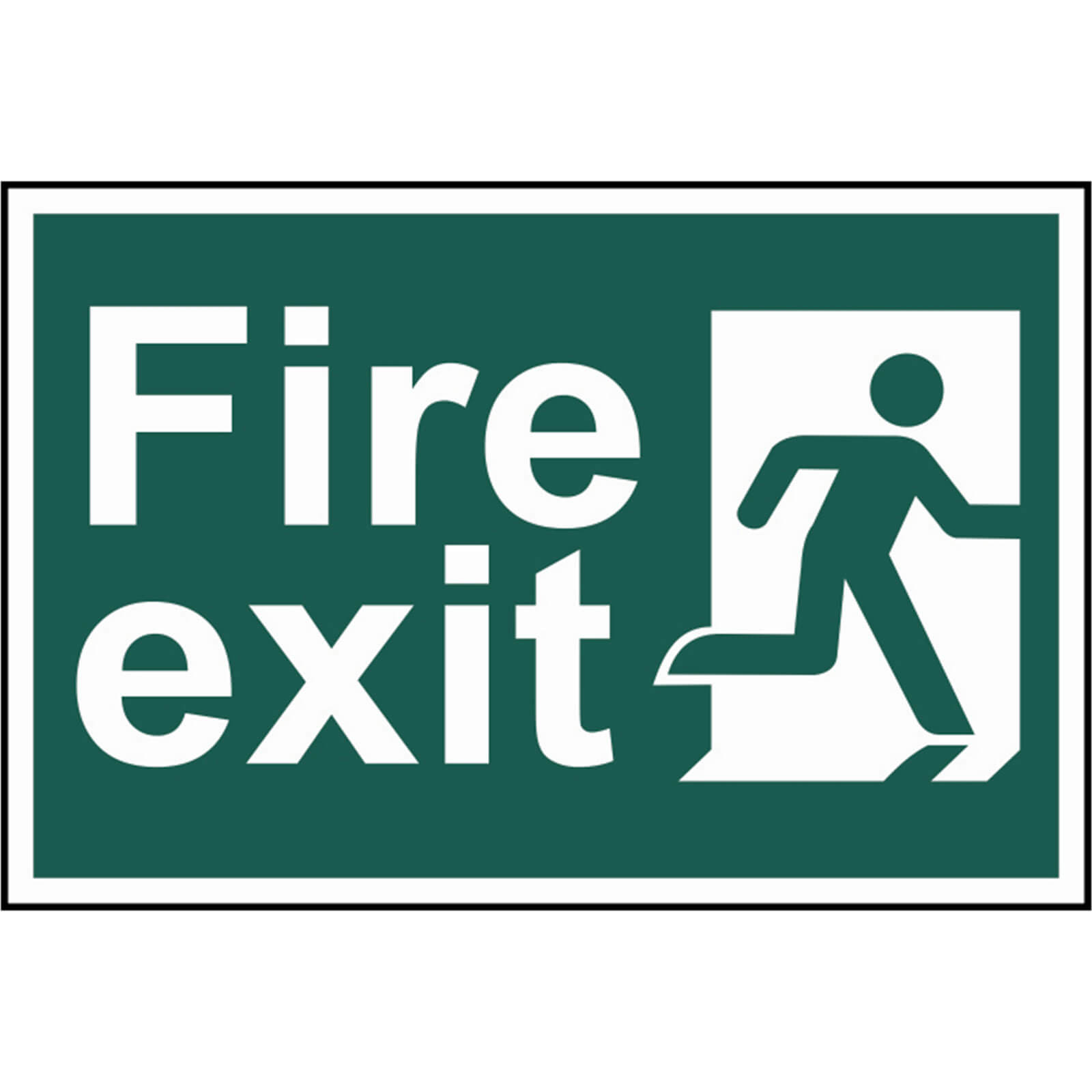 Image of Scan Fire Exit Running Man Sign 300mm 200mm Standard