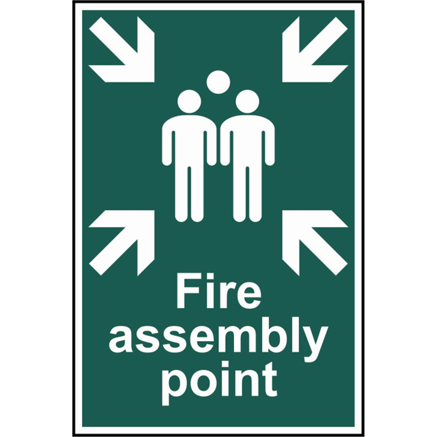 Image of Scan Fire Assembly Point Sign 200mm 300mm Standard