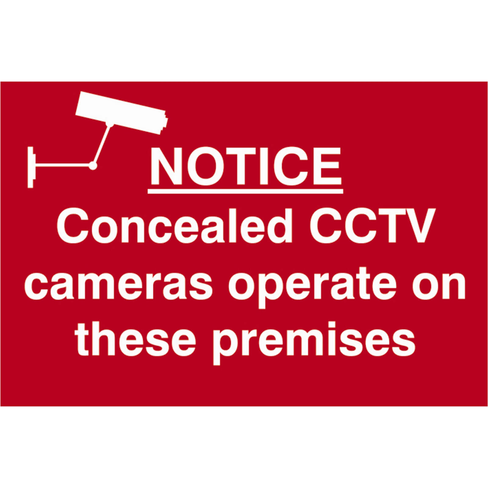 Image of Scan Notice Concealed CCTV Cameras Operate On These Premises Sign 300mm 200mm Standard