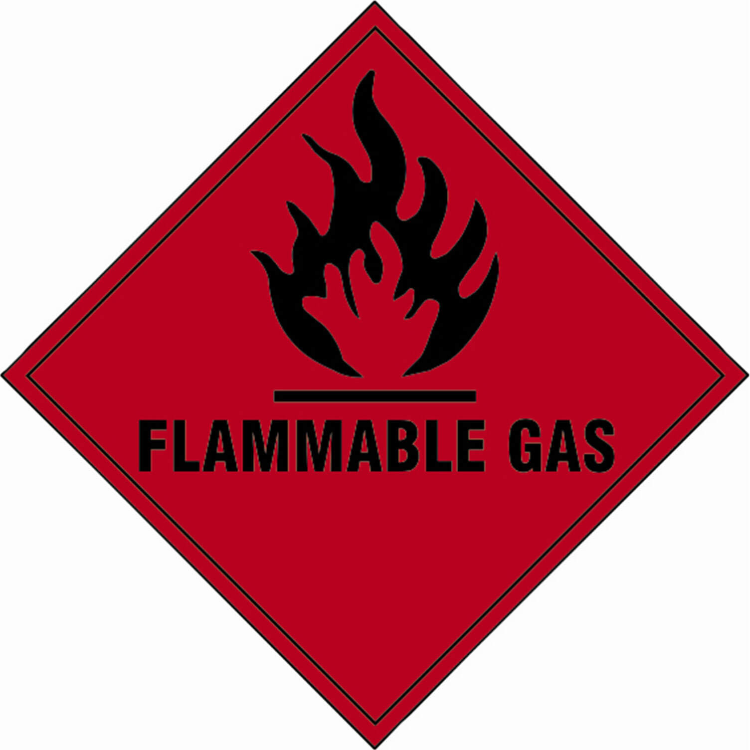 Image of Scan Flammable Gas Sign 100mm 100mm Standard