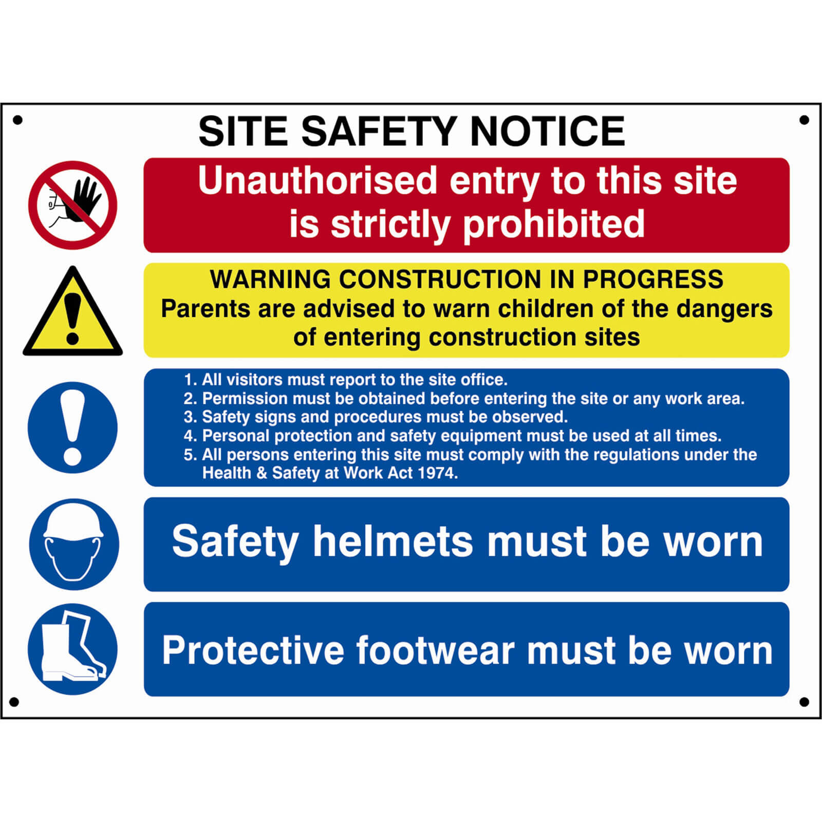 Image of Scan Composite Site Safety Notice 800mm 600mm Standard