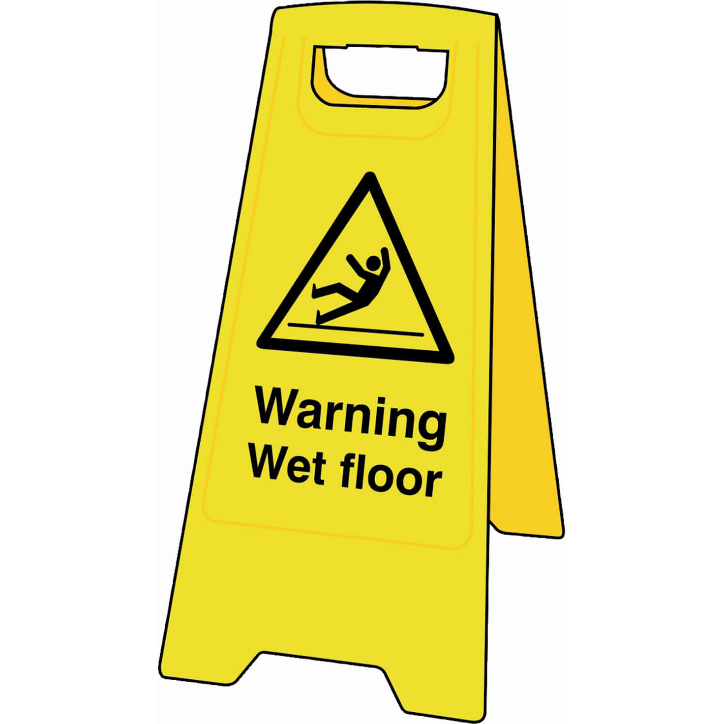 Image of Scan Heavy Duty A-Board Sign - Warning Wet Floor