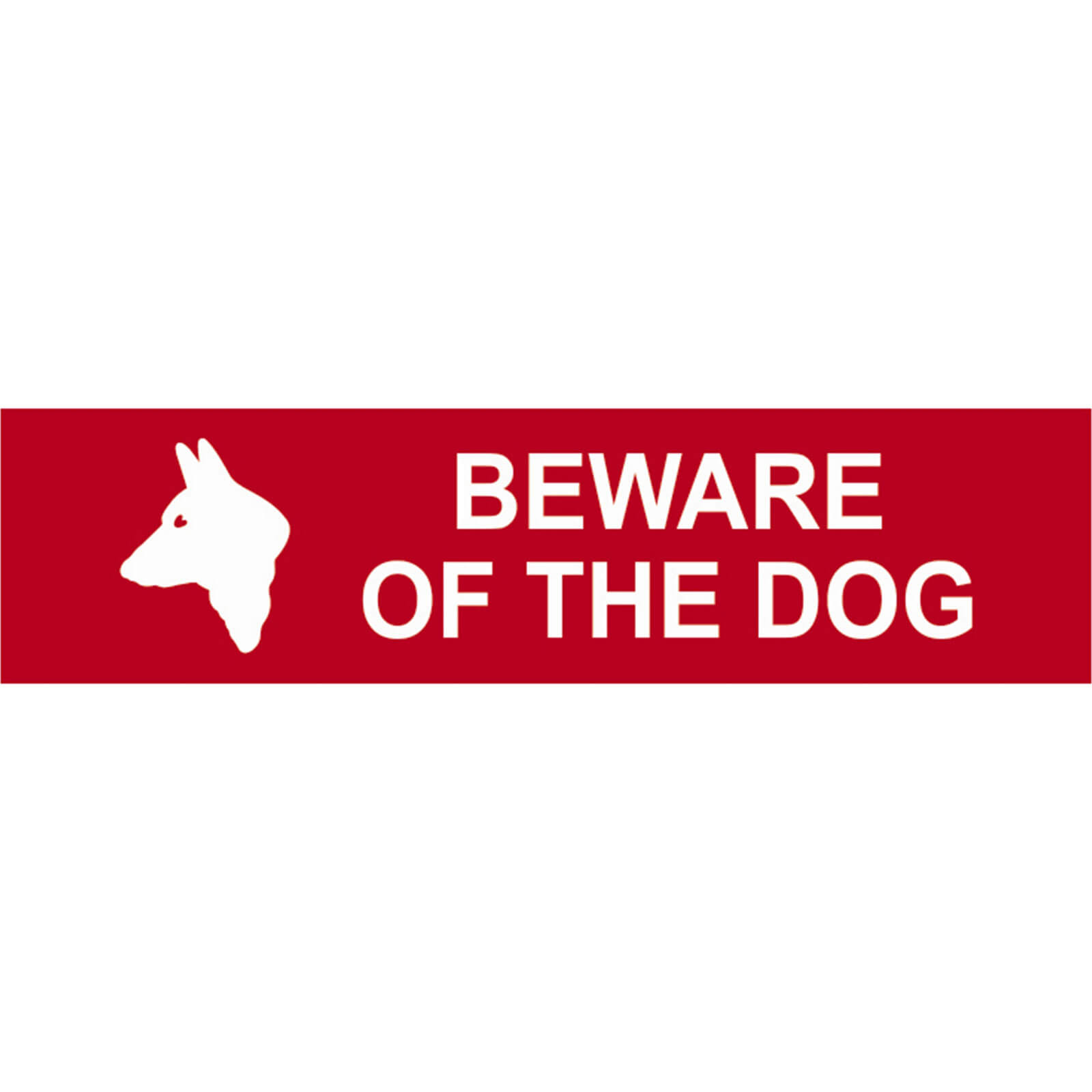 Image of Scan Beware Of The Dog Sign 200mm 50mm Standard